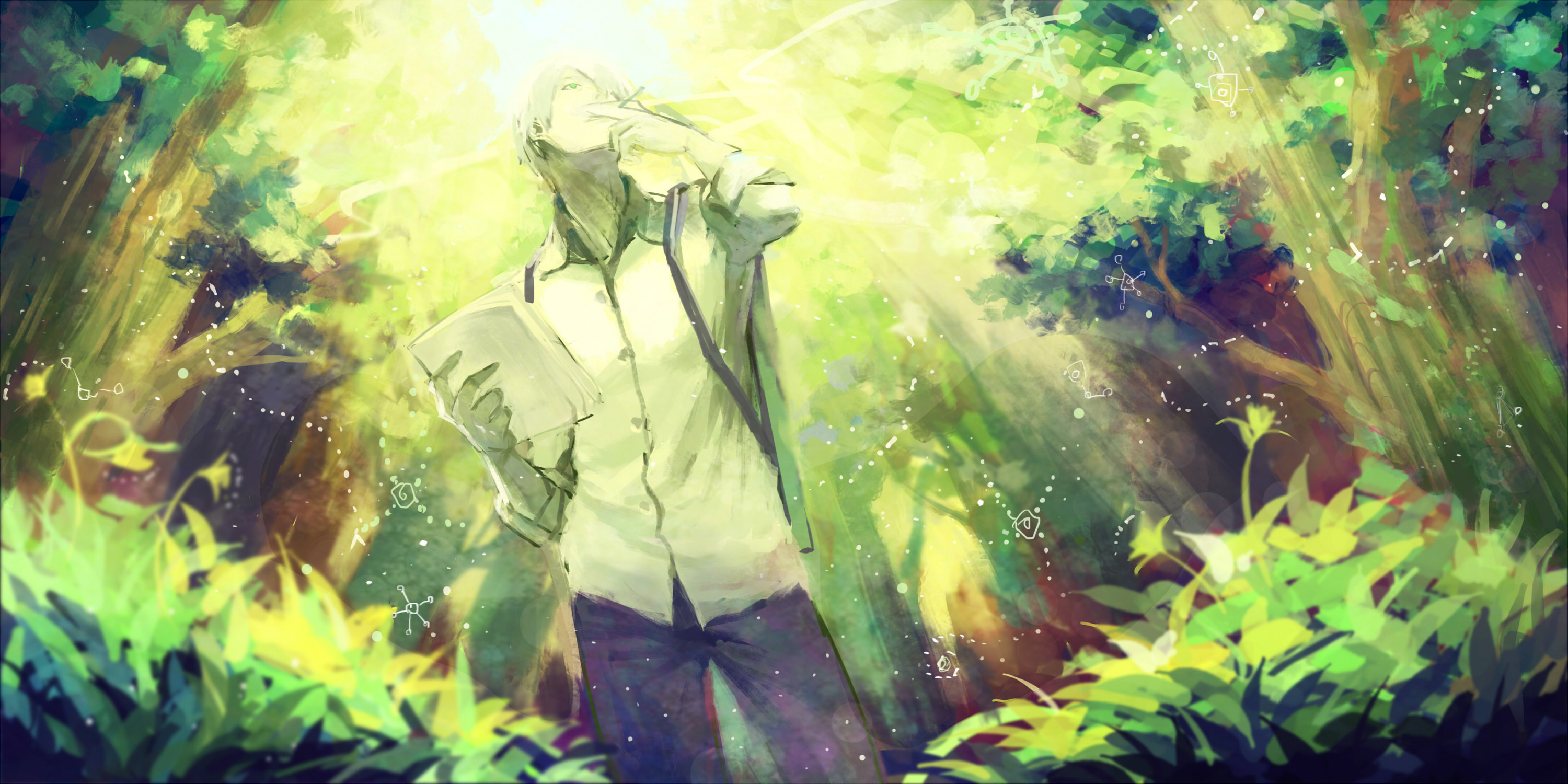 Res: 3000x1500, Ginko (Mushishi) · download Ginko (Mushishi) image
