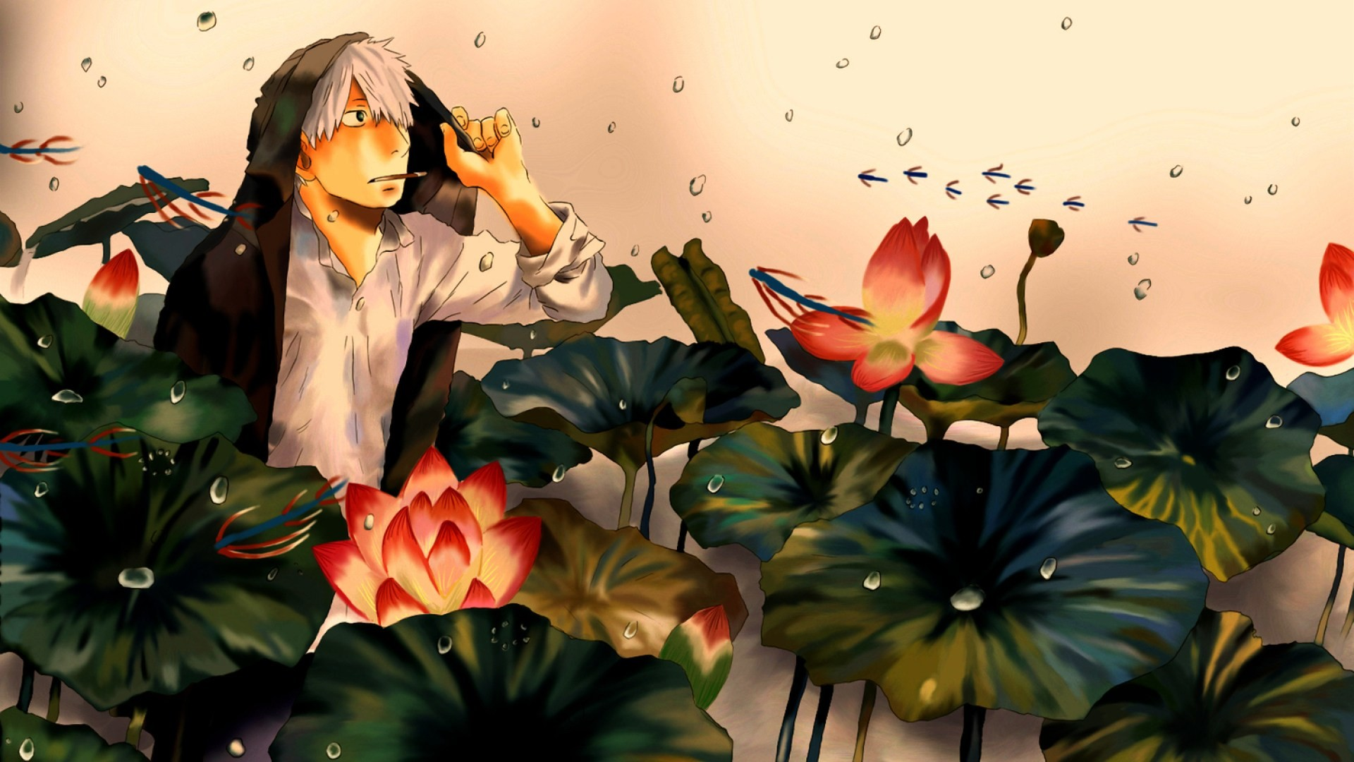 Res: 1920x1080, Mushishi Ginko 1080p HD Wallpaper Background