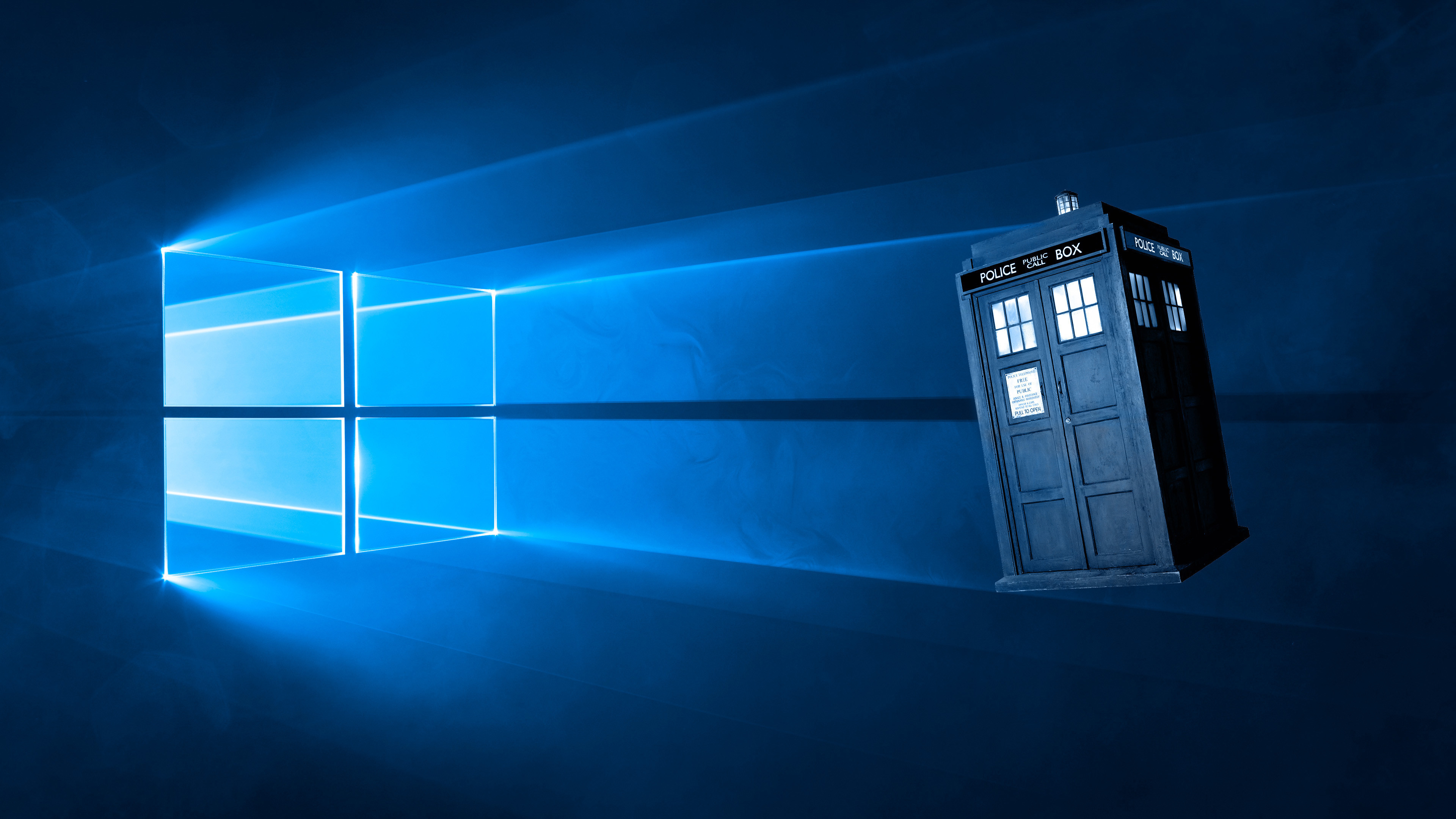 Res: 3840x2160,  Doctor Who Wallpaper Tardis Blue