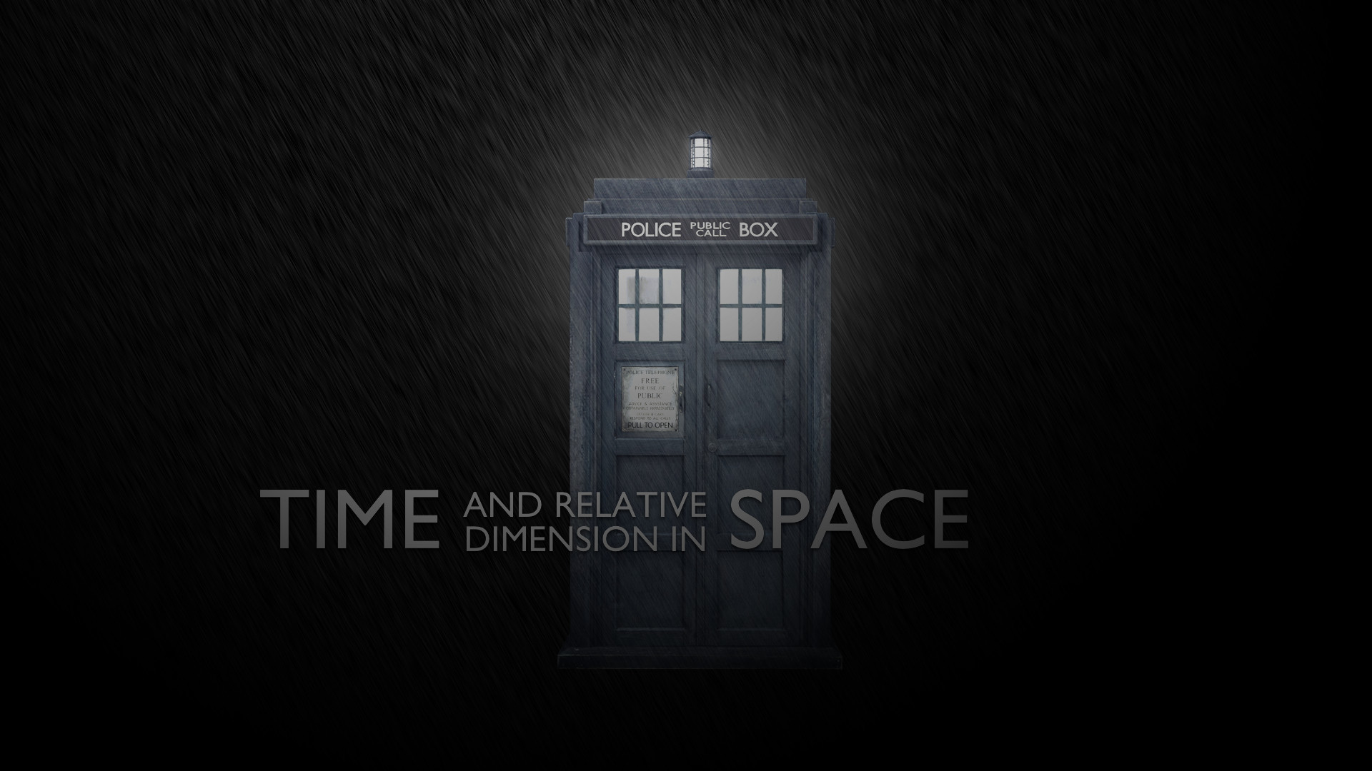Res: 1920x1080, A Tardis Wallpaper I Made Today, Requests Welcomed.