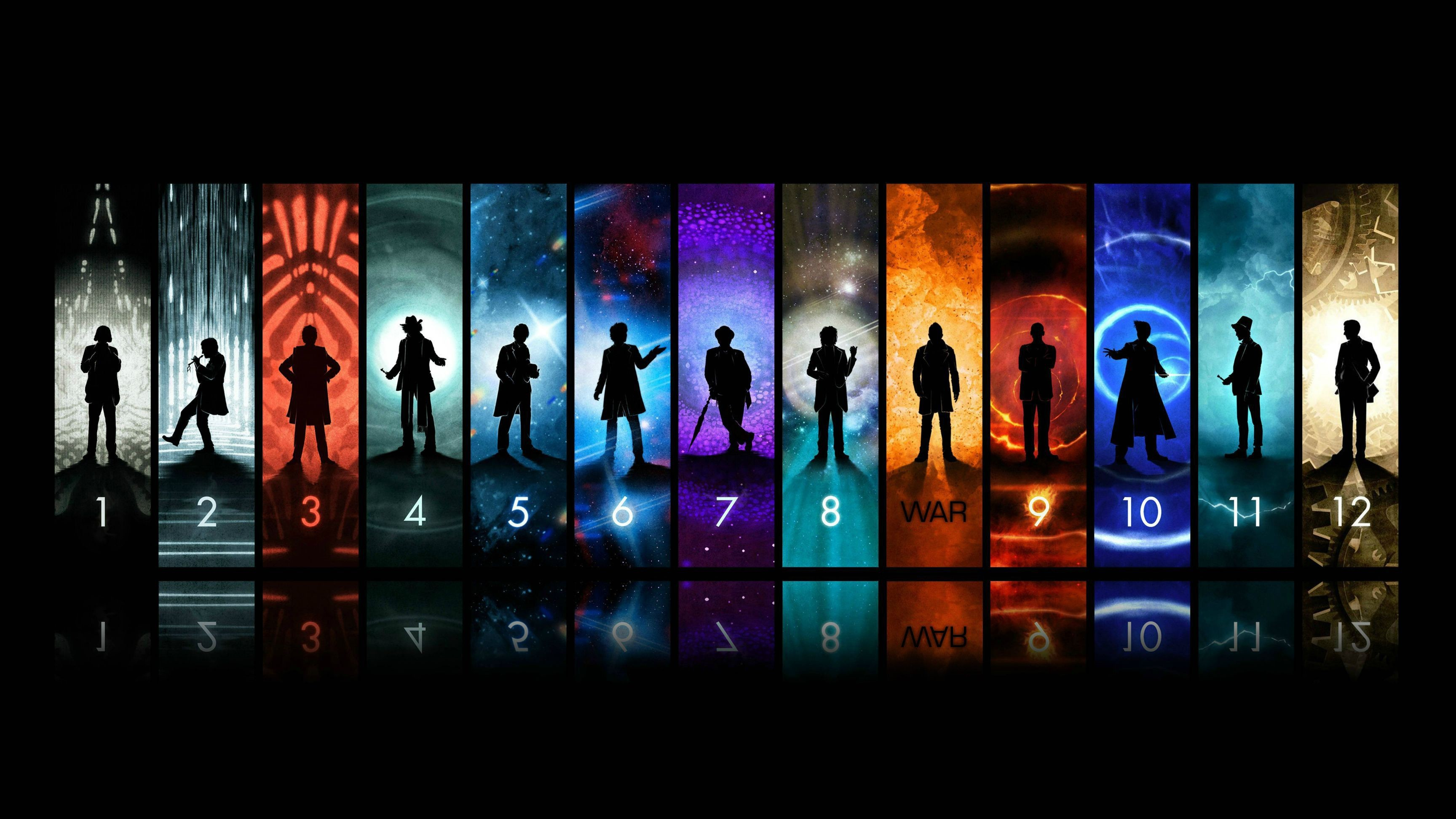 Res: 3456x1944, Doctor Who Wallpaper (1 through 12 with War) - Imgur (Number 8 will