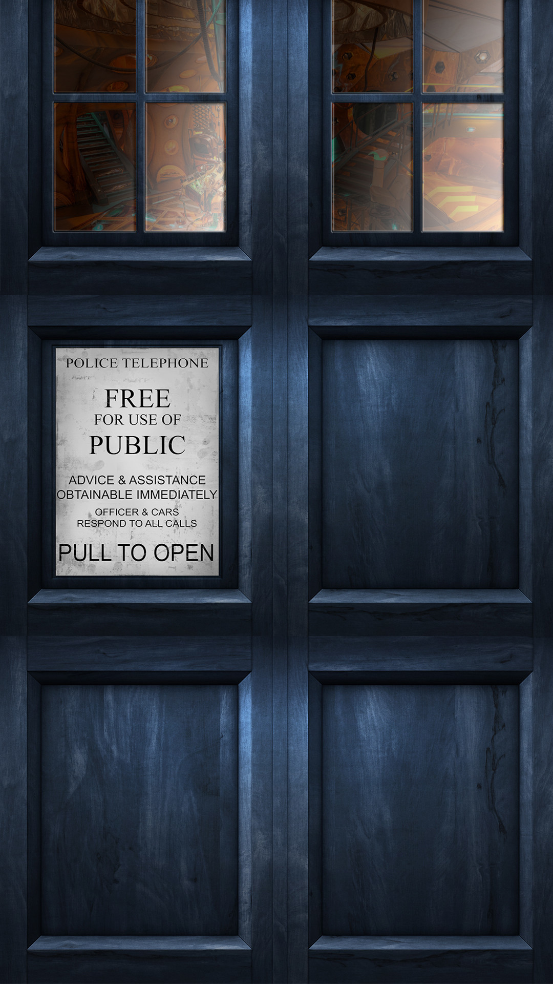 Res: 1080x1920, Made a Tardis HQ wallpaper for my phone.