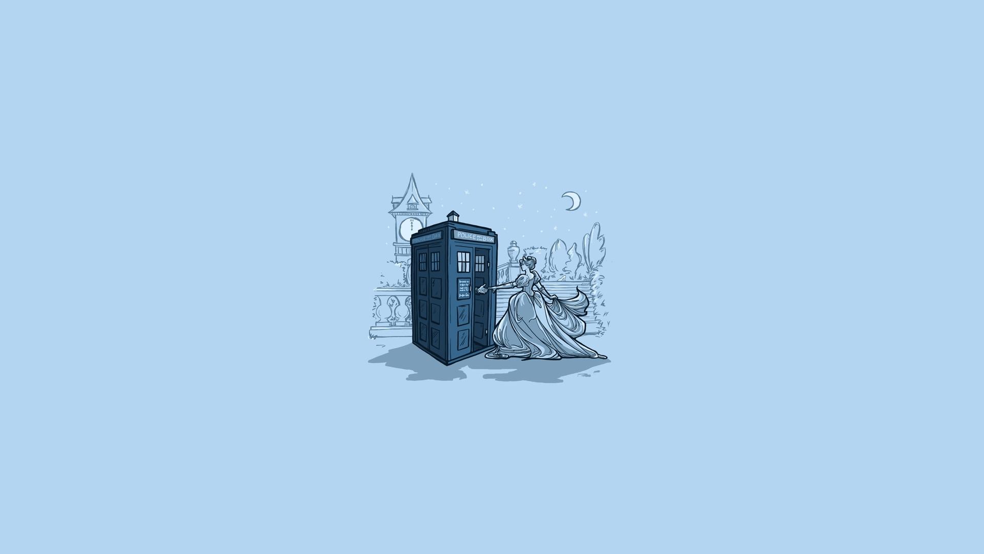 Res: 1920x1080, TARDIS Disney crossover Wallpaper #9376