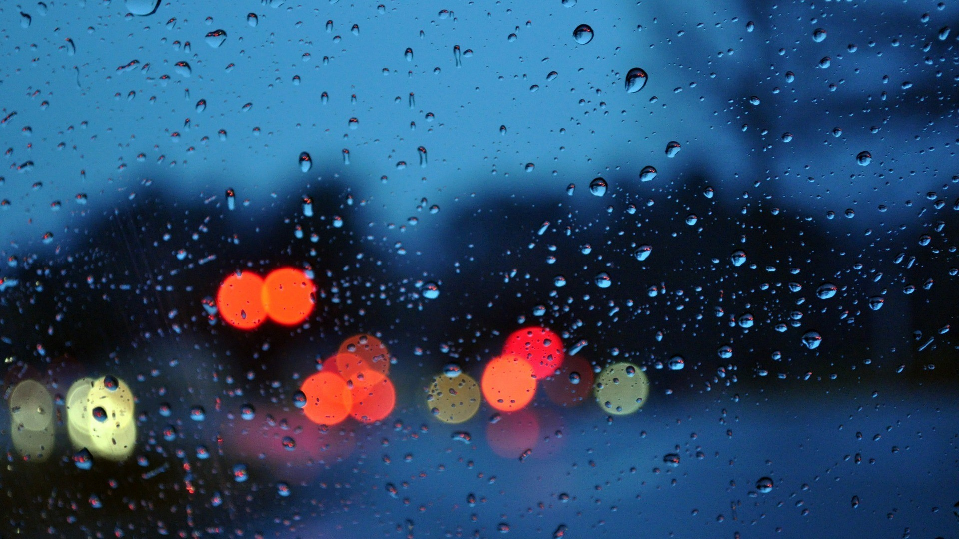 Res: 1920x1080, Bokeh glass rain water drops wallpaper