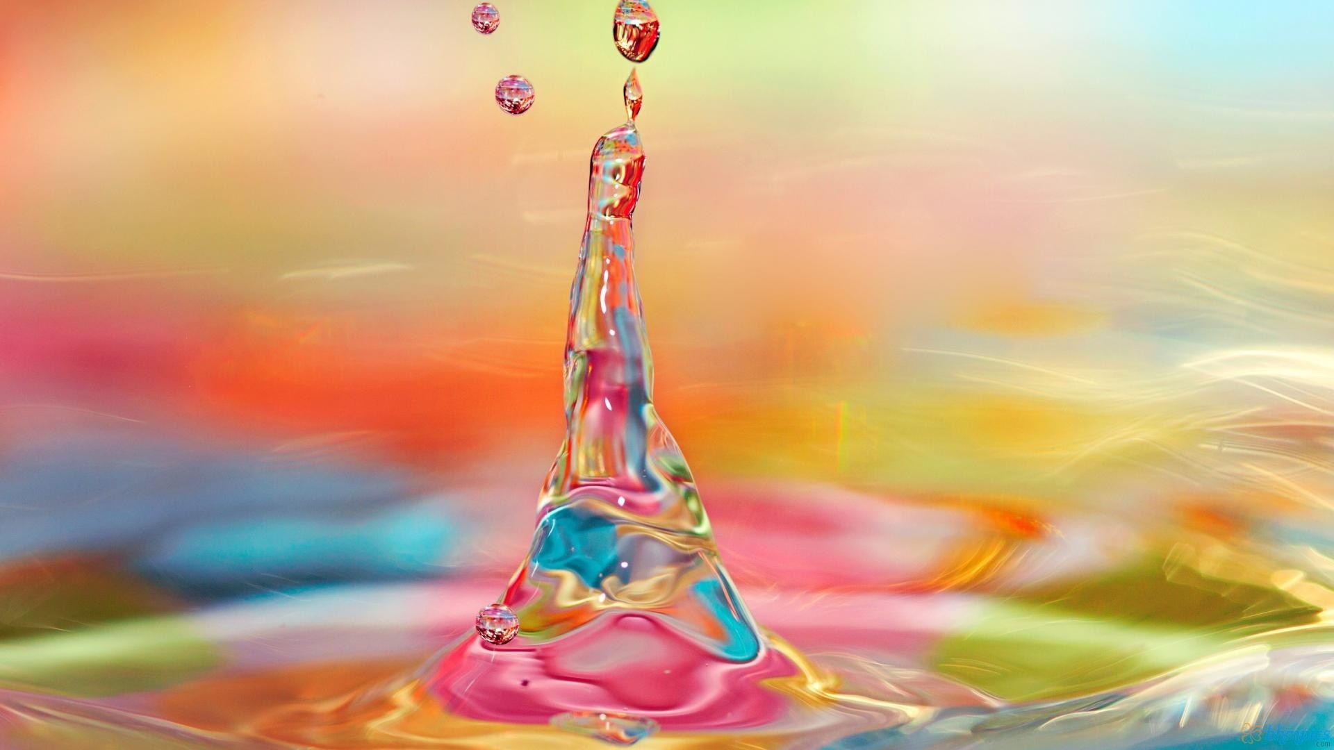 Res: 1920x1080, Colorful Water Drops Wallpapers (6)