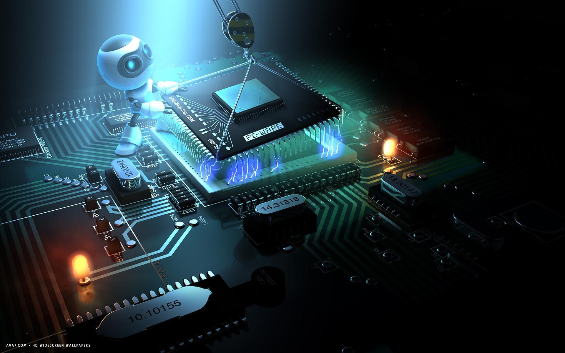 Res: 1920x1200, 3d alien removing microchip cpu motherboard technology hd widescreen  wallpaper