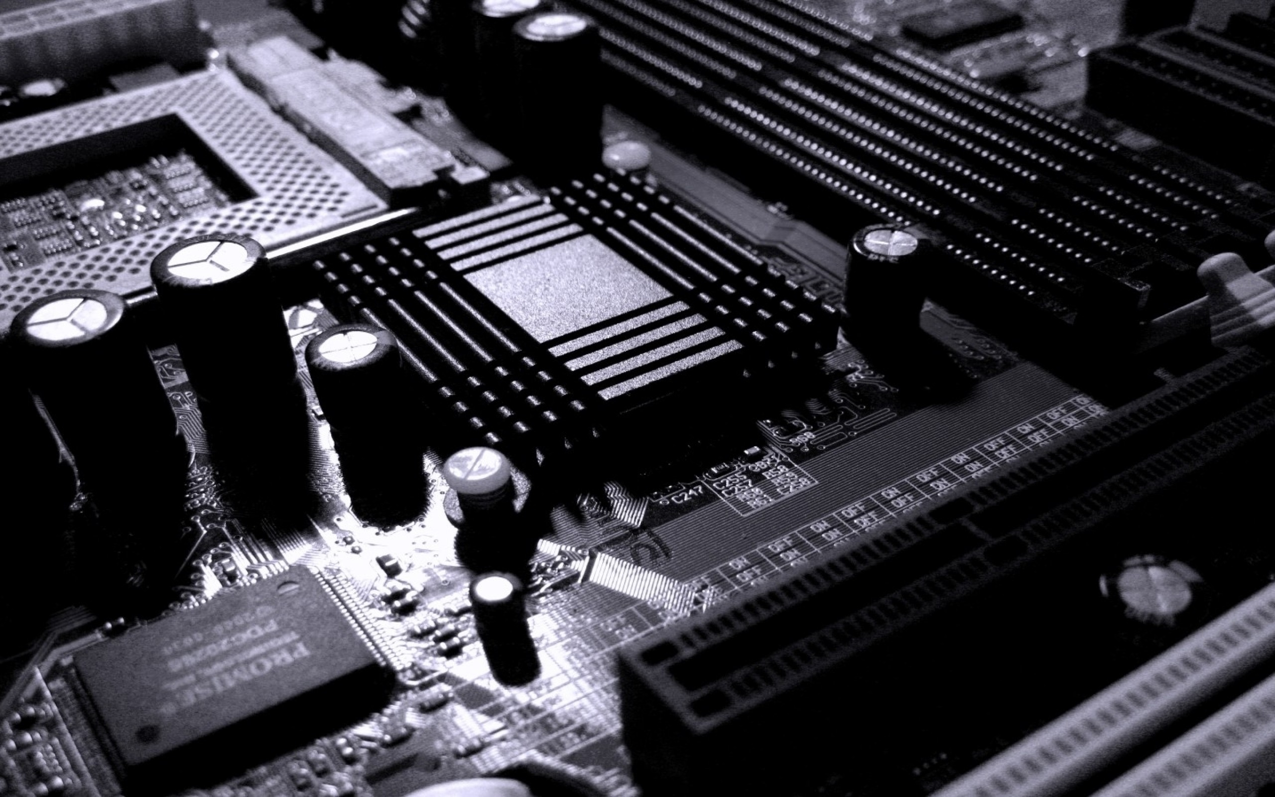 Res: 2560x1600, Monochrome Motherboard