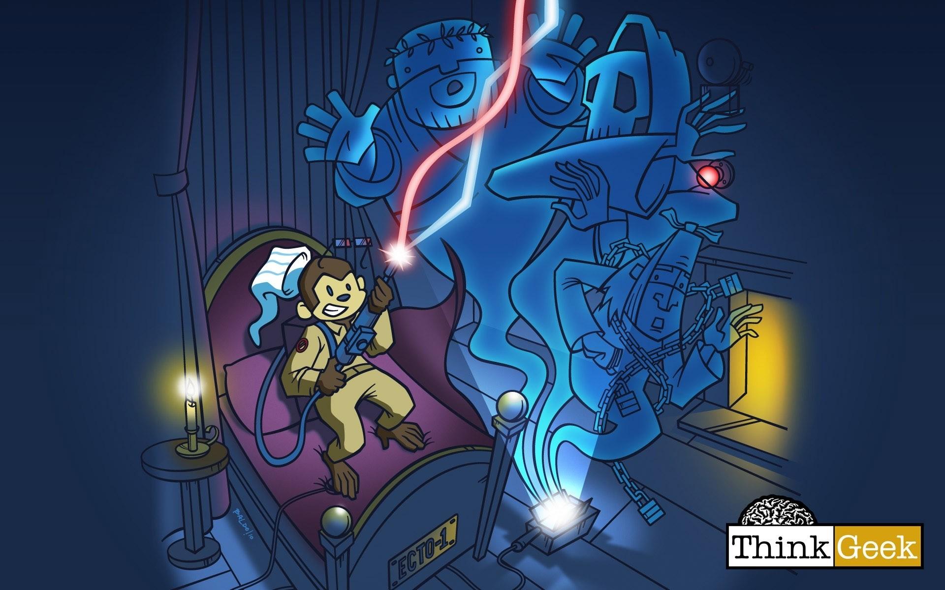 Res: 1920x1200, ghostbusters monkeys thinkgeek Art HD Wallpaper