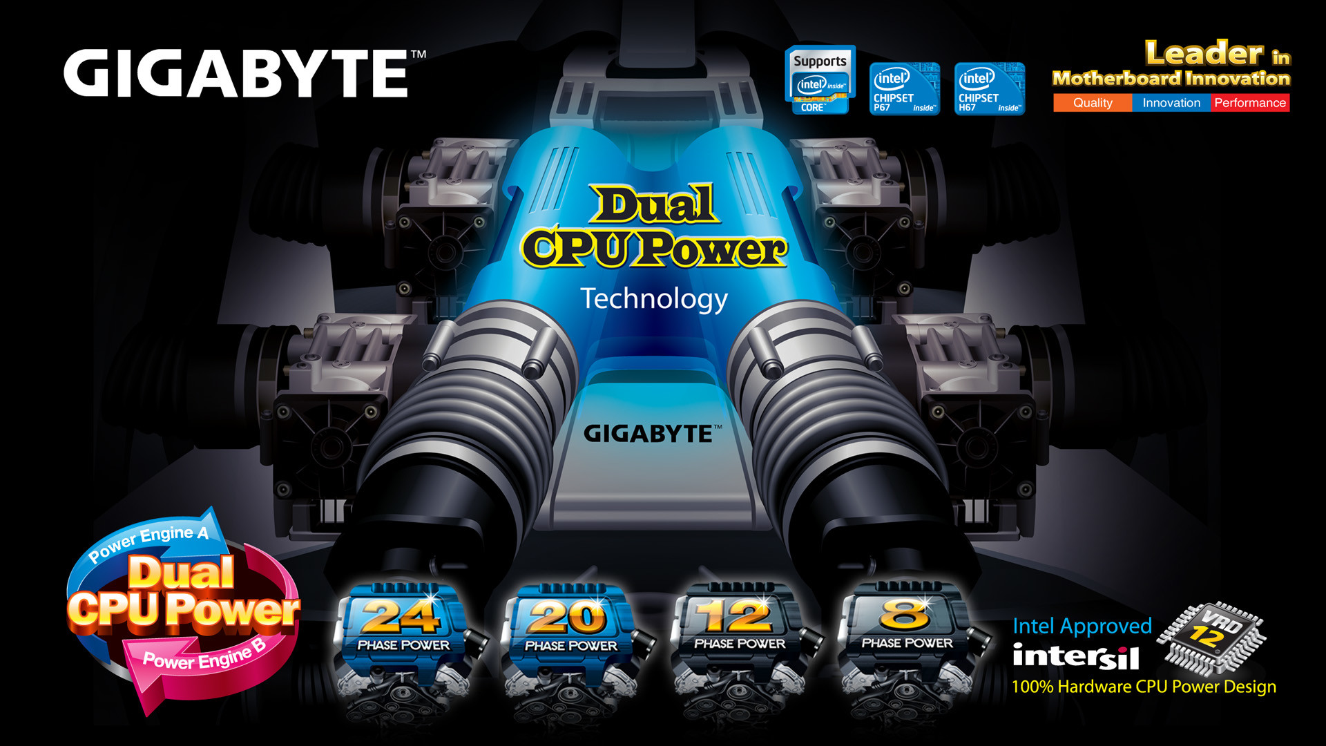 Res: 1920x1080, GIGABYTE 6 series Ultra Durable Motherboards