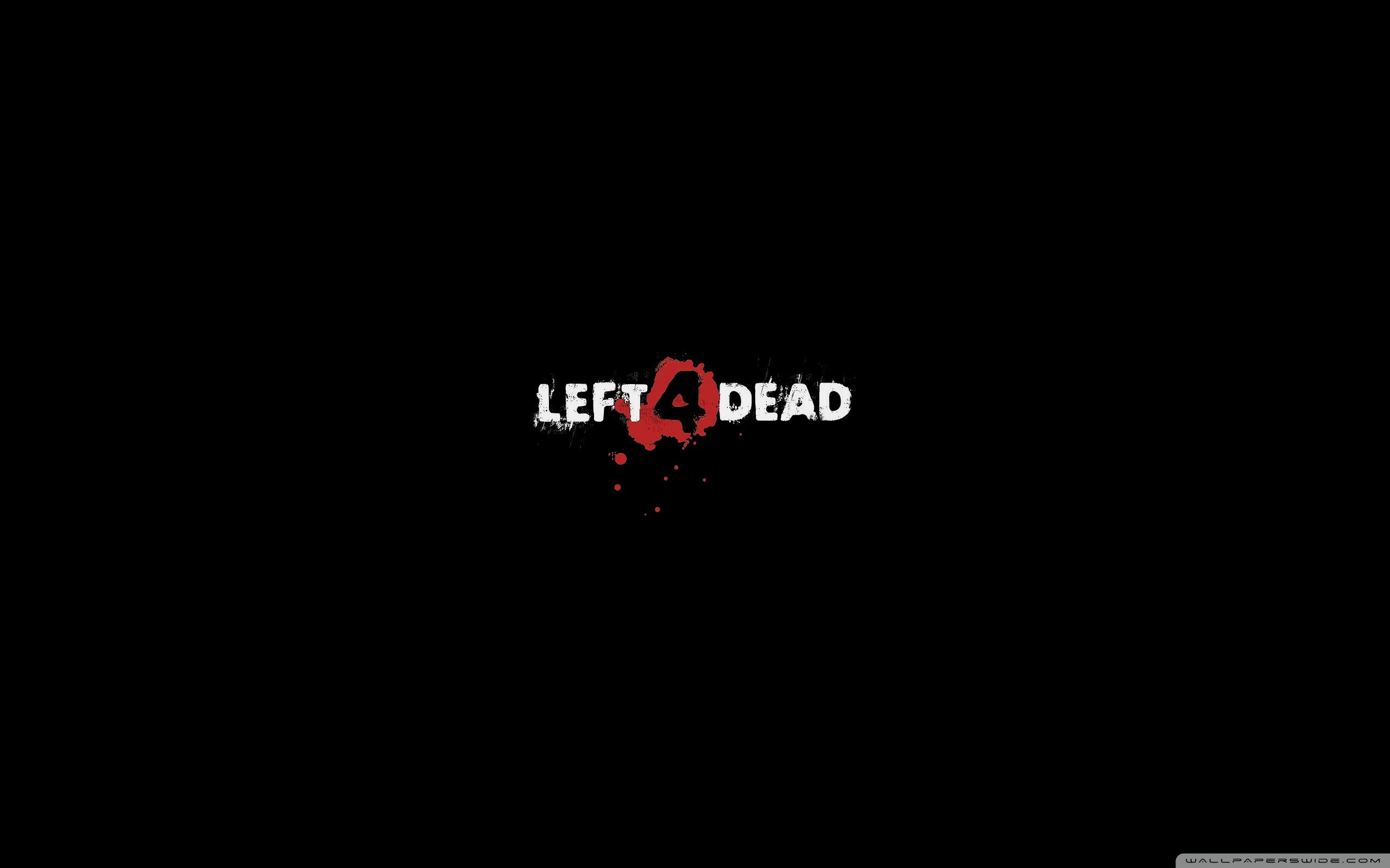 Res: 2560x1600, Left 4 Dead Logo Black HD Wide Wallpaper for 4K UHD Widescreen desktop &  smartphone