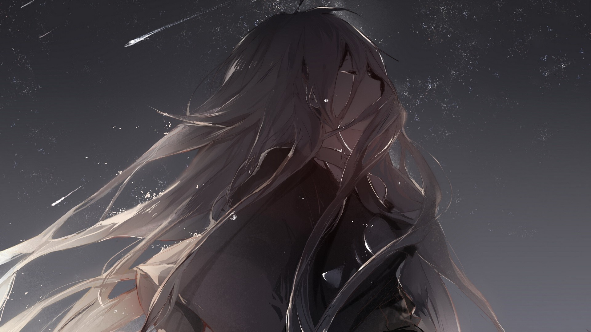 Res: 1920x1080, Best of Anime Crying Girl Wallpaper Collection - Tags Sad Anime Girl