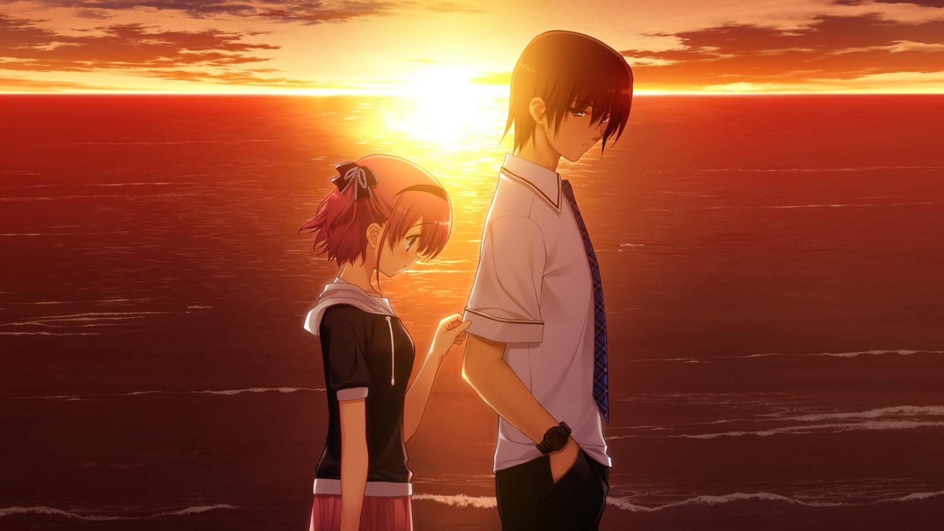 Res: 1920x1080, Sad Anime Couple