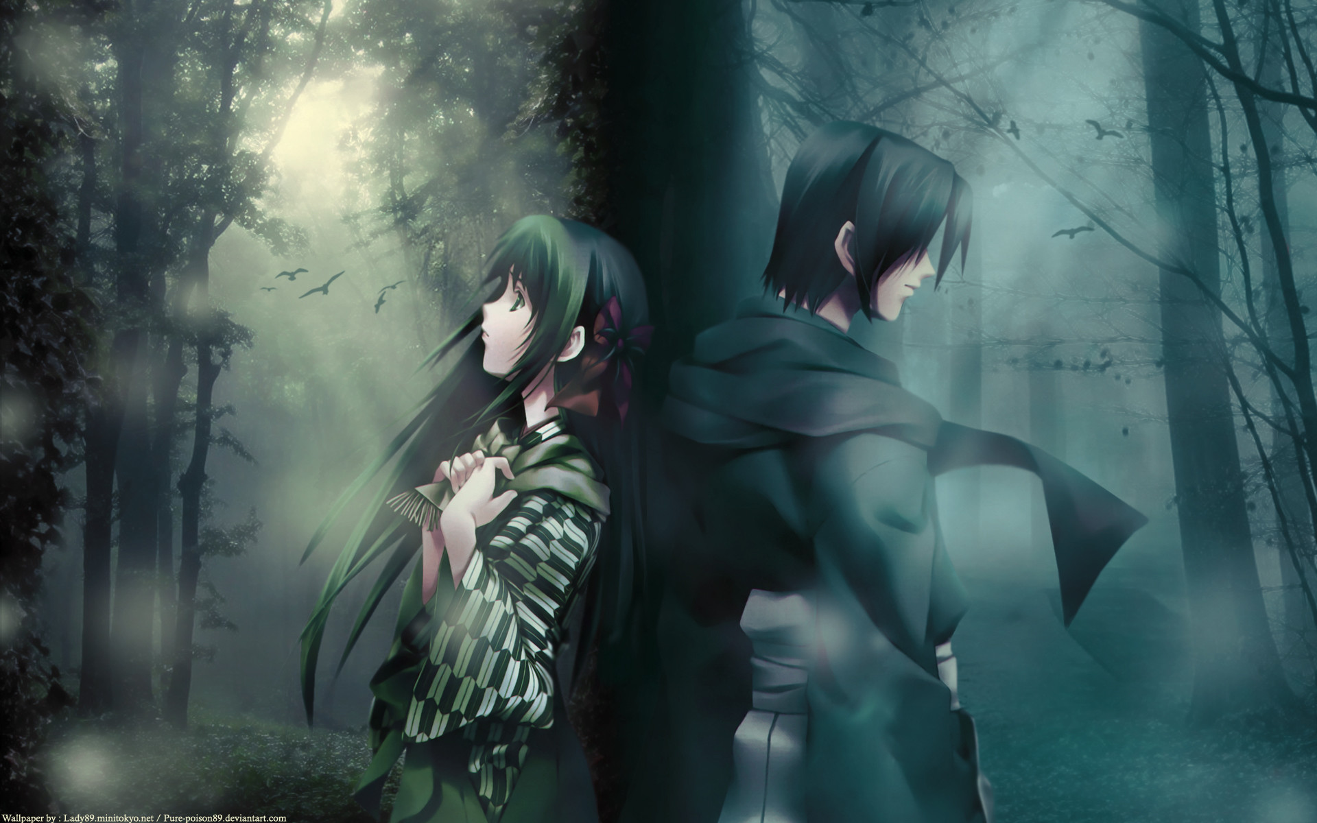 Res: 1920x1200, Anime - Cartagra ~Affliction of the Soul~ Wald Düster Anime Wallpaper