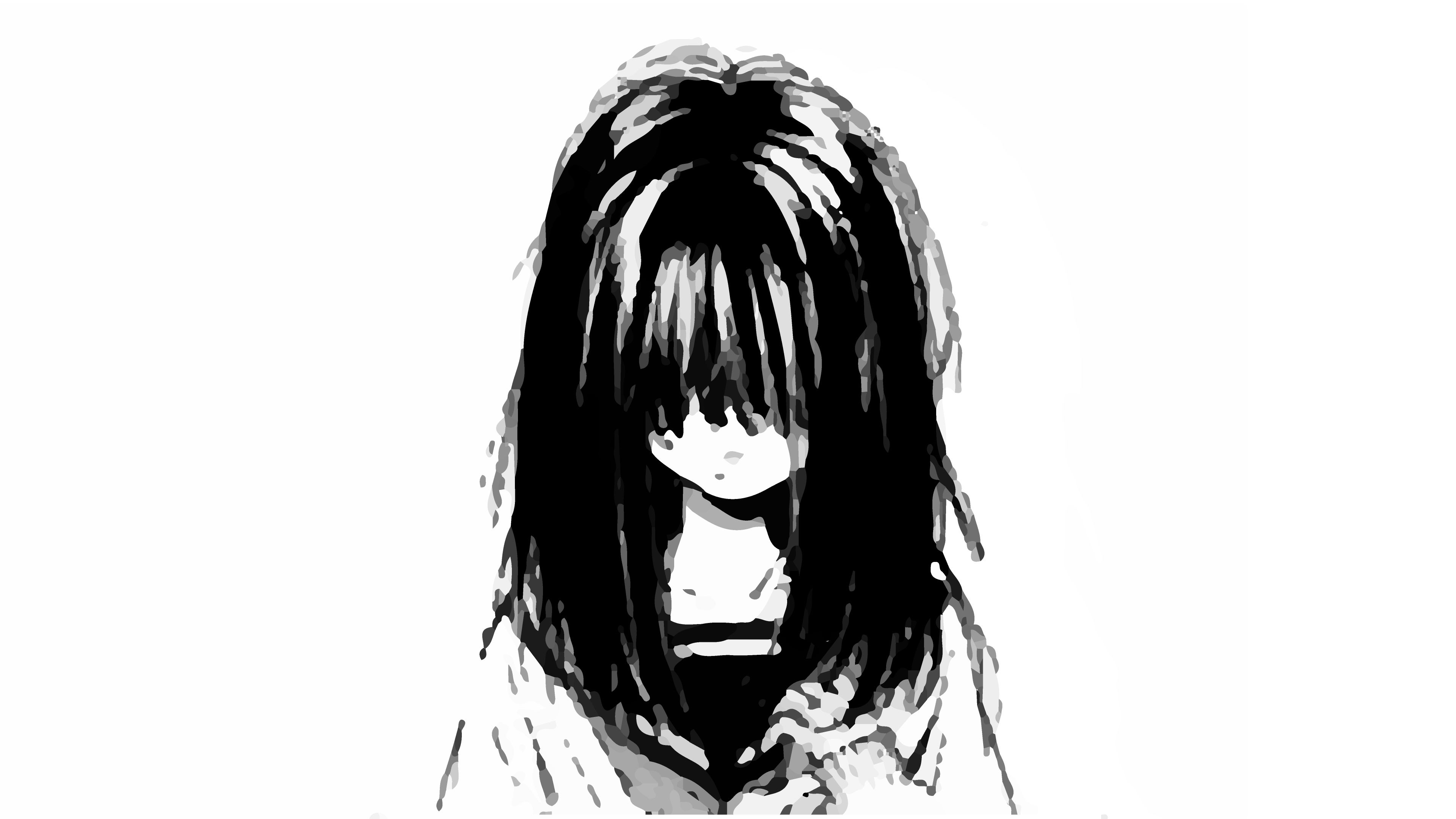 Res: 3840x2160, Black Wallpaper In Drawing Alone Girl Depressed Sad Anime Girl Crying  Drawing And Pictures | Sadever