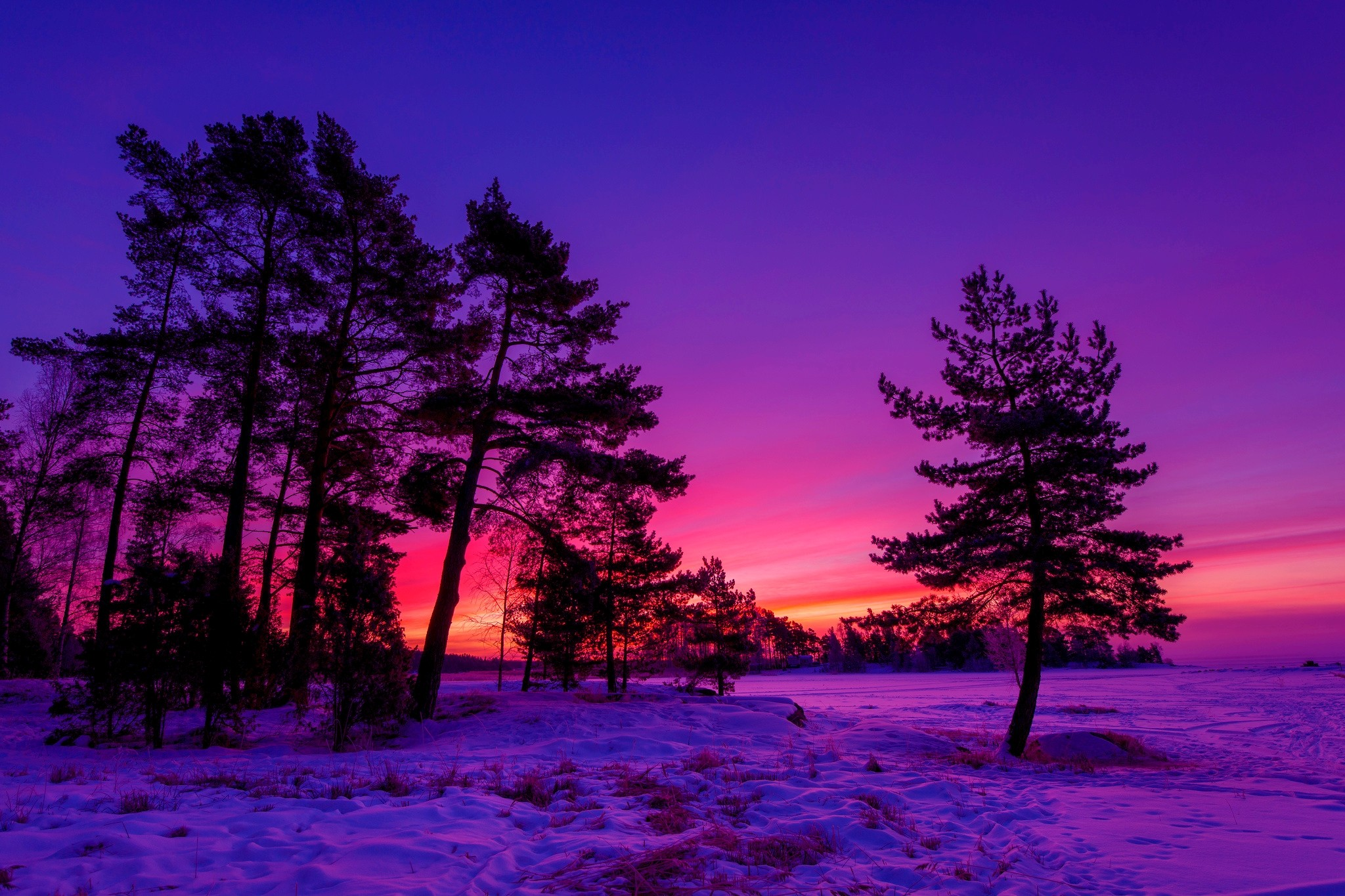 Res: 2048x1365, HD Awesome Winter Sunset Desktop Wallpapers