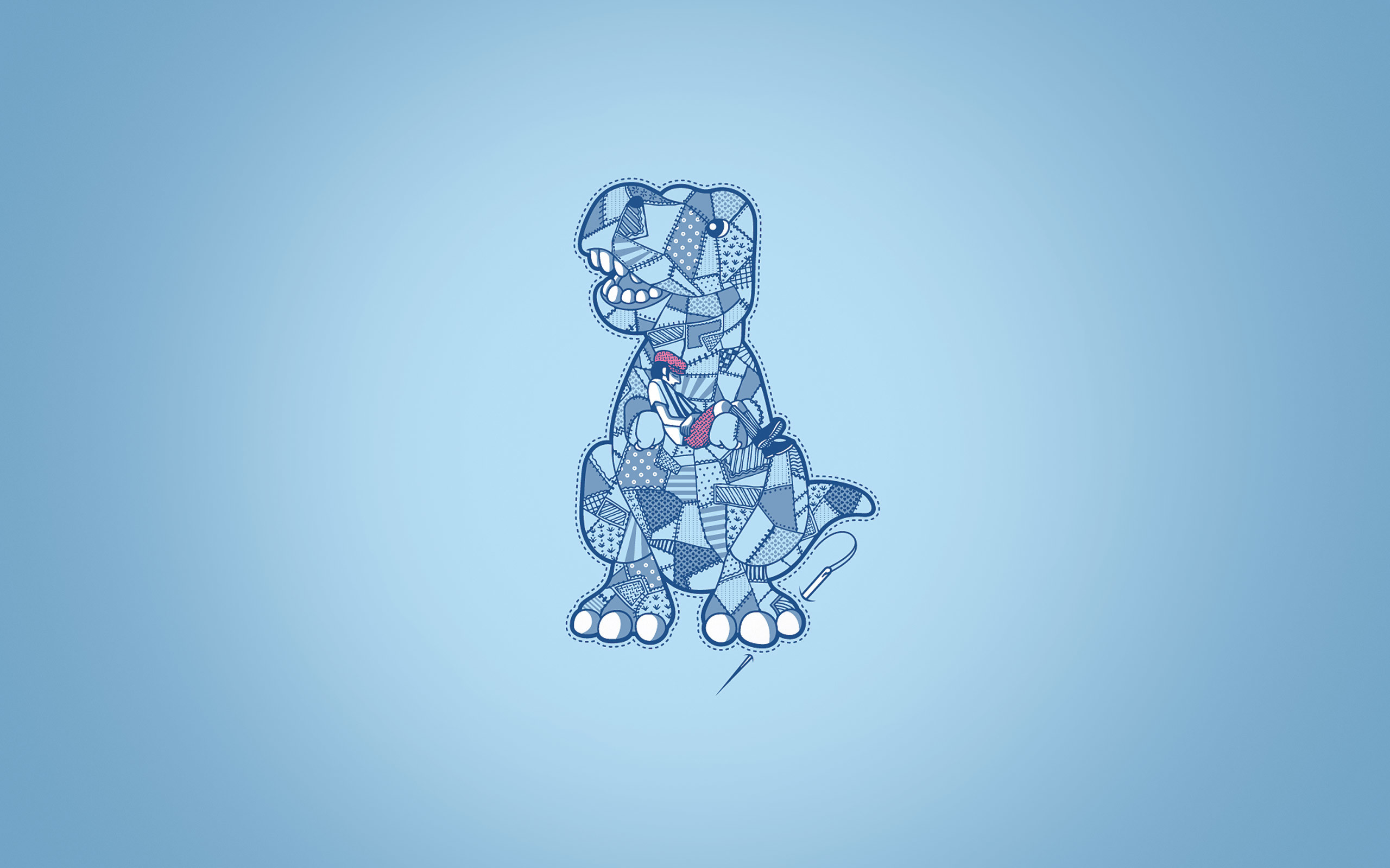 Res: 2560x1600, Patchwork Dinosaur Wallpaper