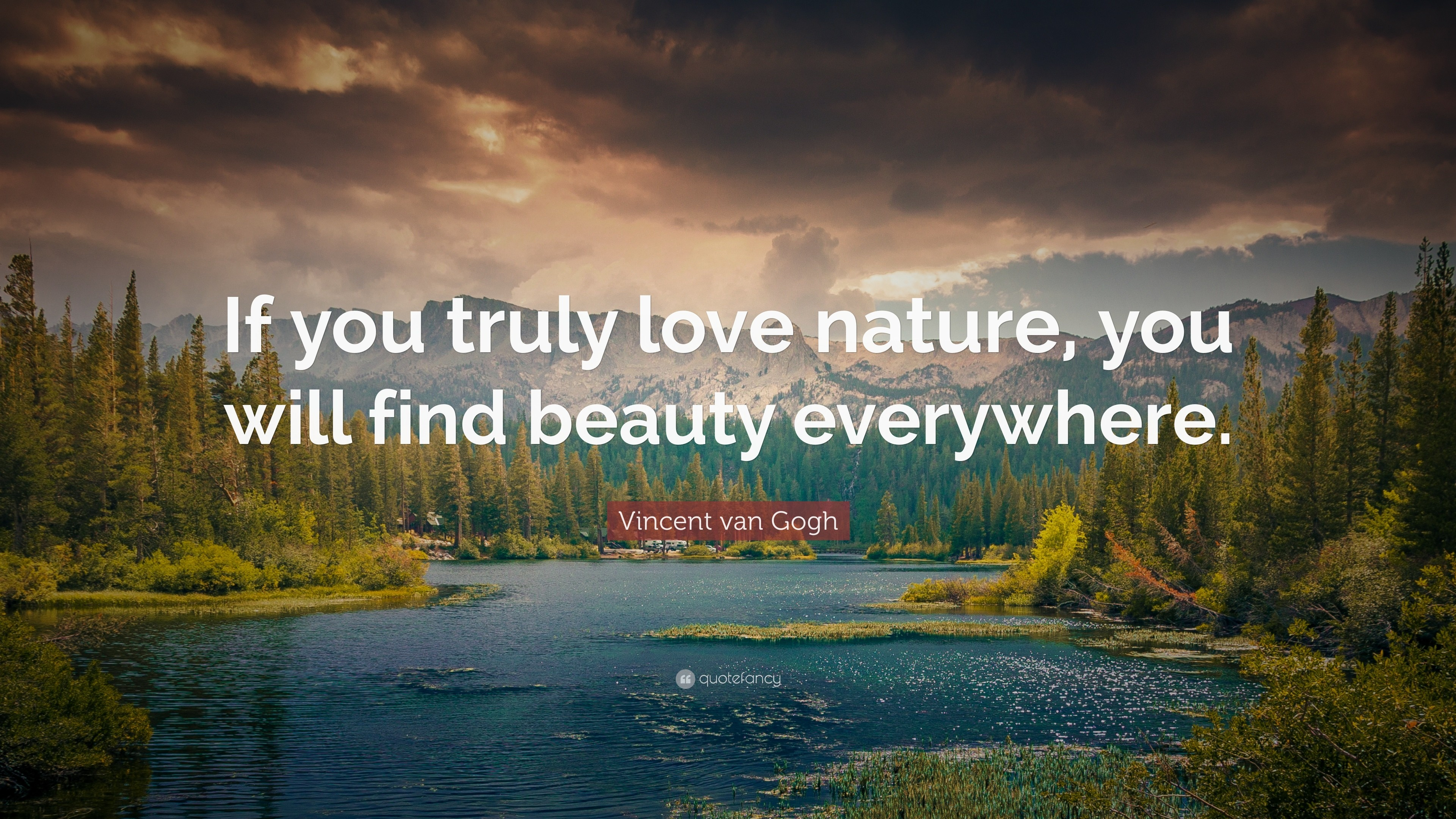 """Res: 3840x2160, Nature Quotes: """"If you truly love nature, you will find beauty everywhere."""