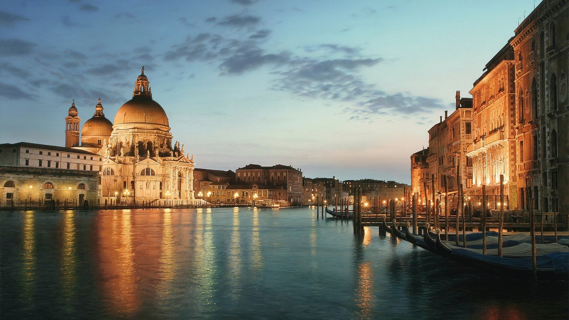 Res: 1920x1080, Clouds nature love boats venice rivers wallpaper
