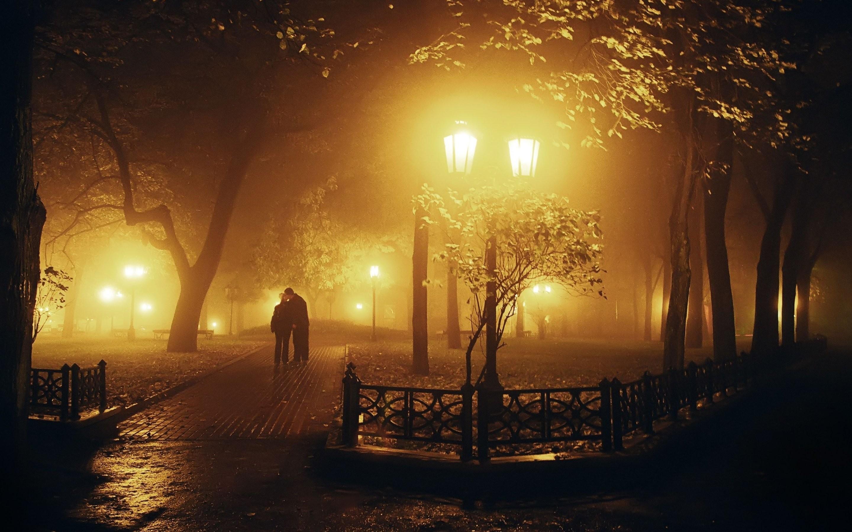 Res: 2880x1800, Tree night lamb couple love romantic mood fog kiss wallpaper |  |  628220 | WallpaperUP
