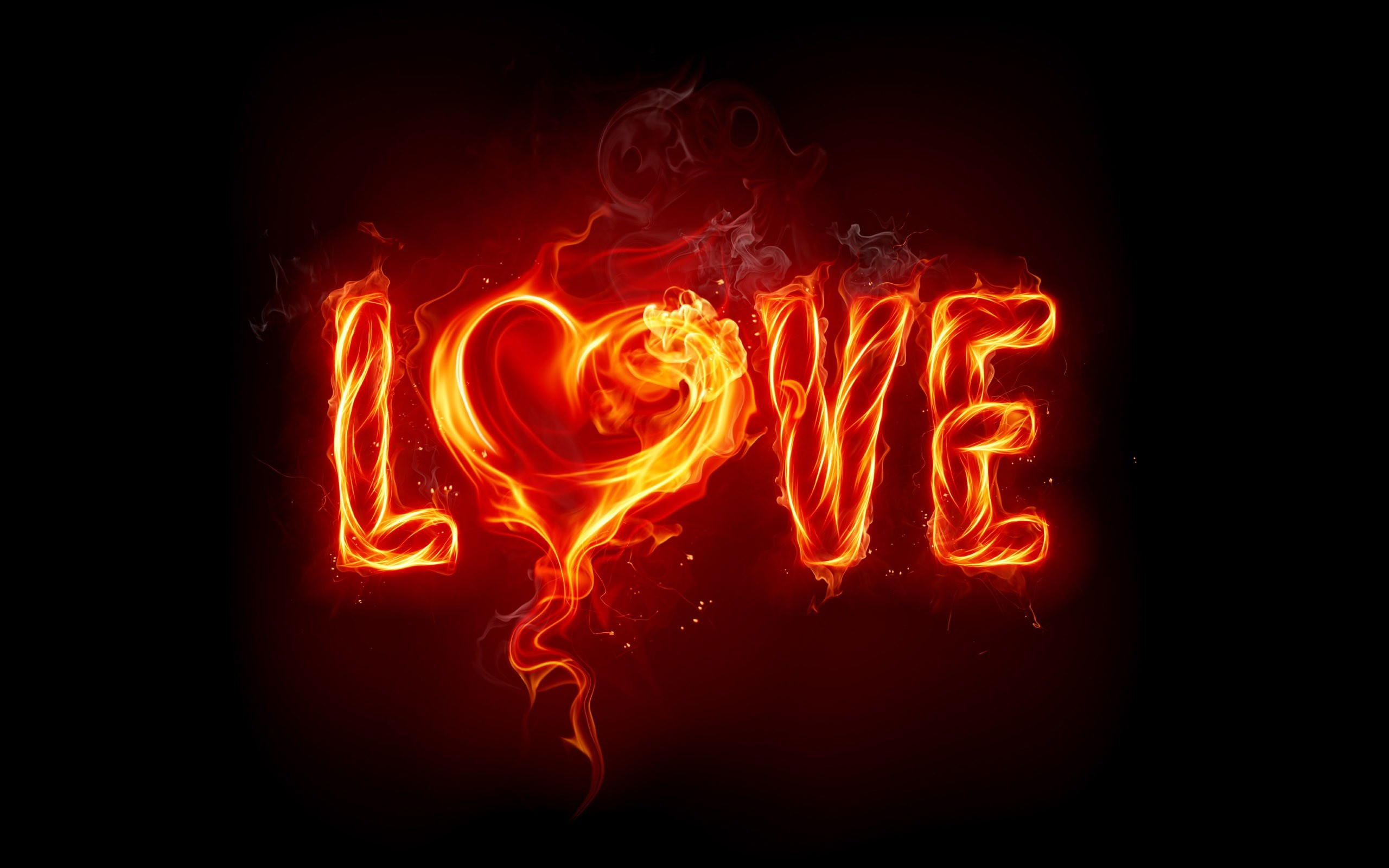 Res: 2560x1600, Love Fire Wallpaper Valentines Day Holidays
