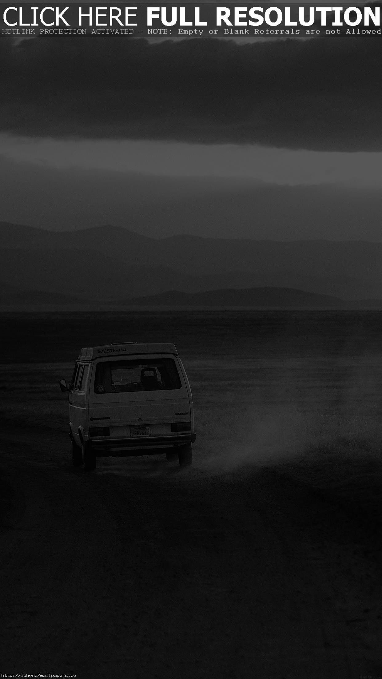 Res: 1242x2208, Desert Car Dark Bw Drive Nature Love Android wallpaper - Android HD  wallpapers