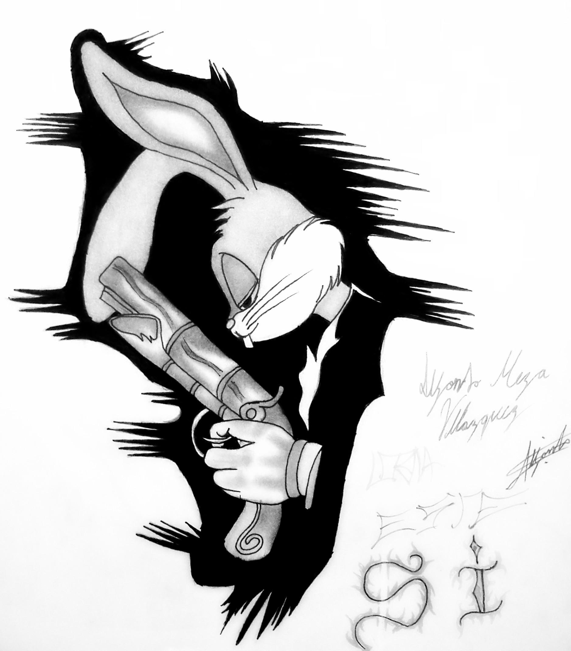 Res: 1878x2139, Bugs Bunny Gangsta Desktop Wallpaper 26134
