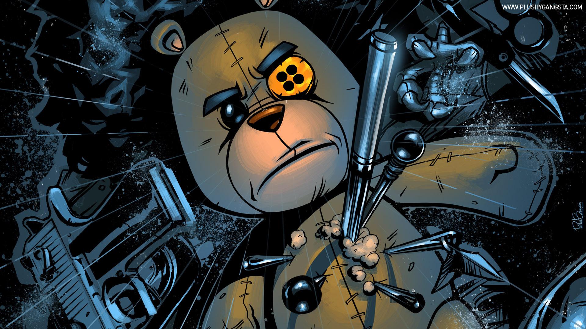 Res: 1920x1080, Gangster Cartoon Wallpapers Gangster Teddy Bear Pins Rain Hd Wallpaper    Anime   Wallpaper Better