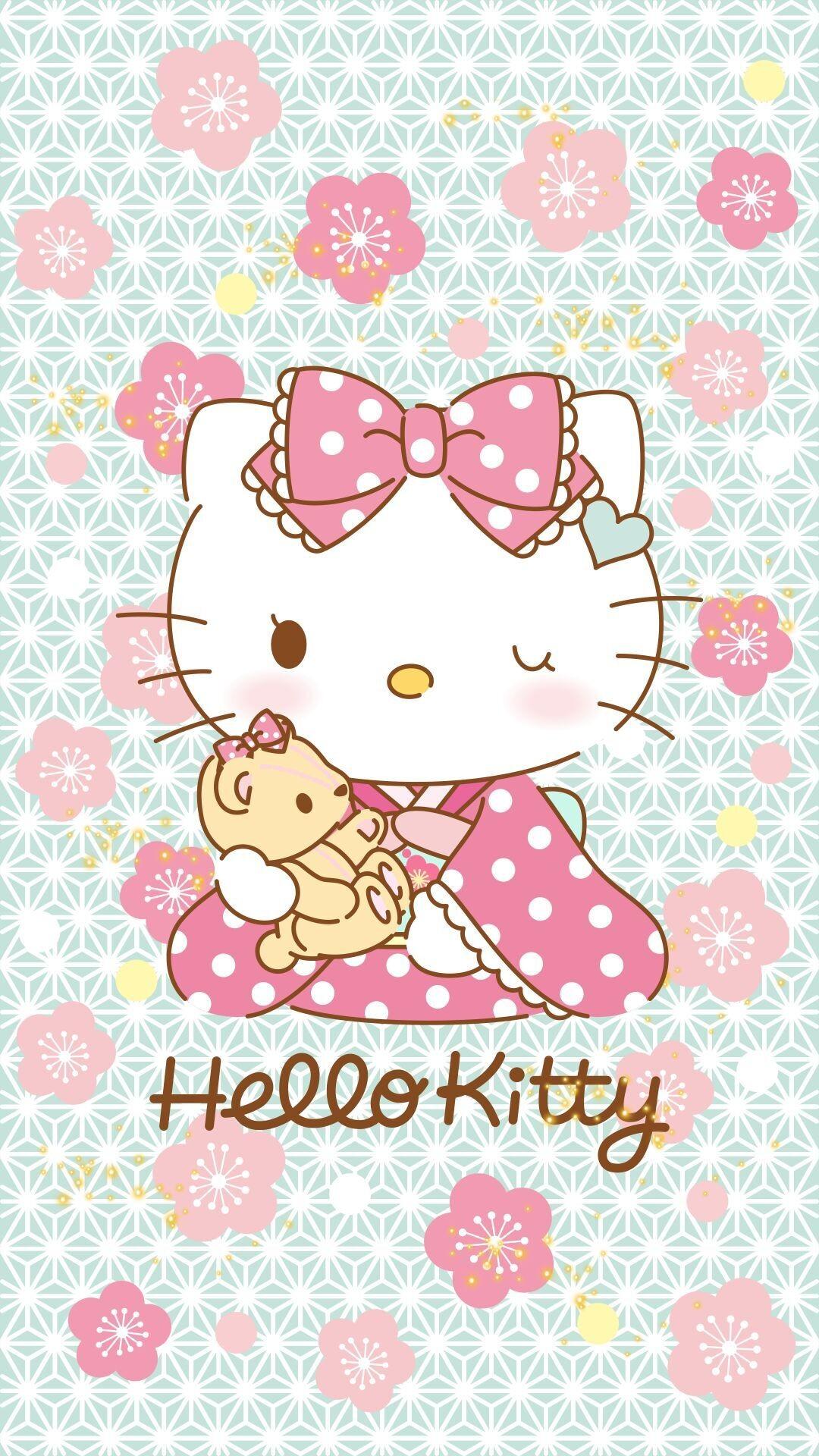 Res: 1080x1920, Wallpapers · Hello Kitty ♥ Kimono