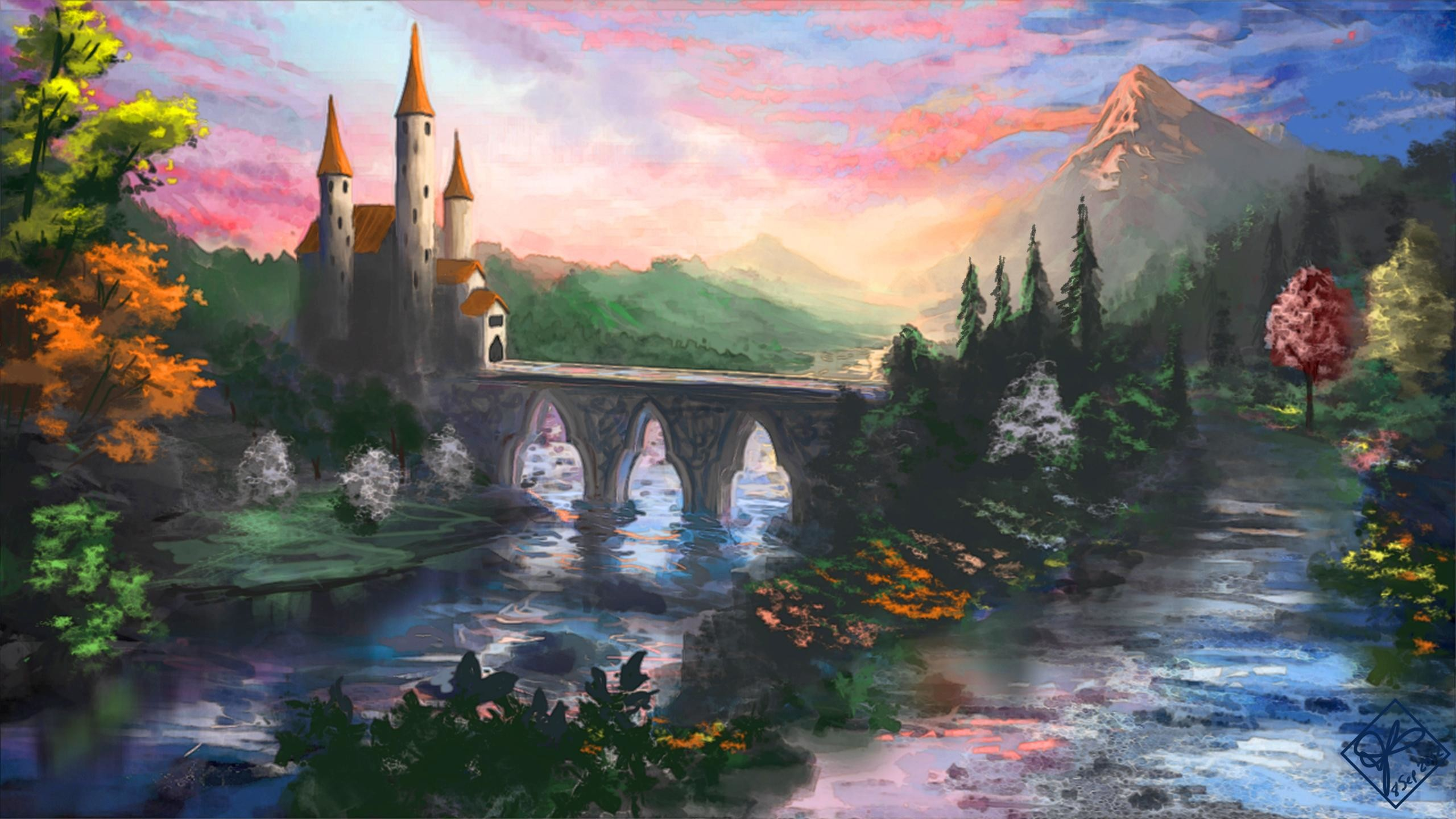Res: 2560x1440, Fairytale castle - (#159600) - High Quality and Resolution .
