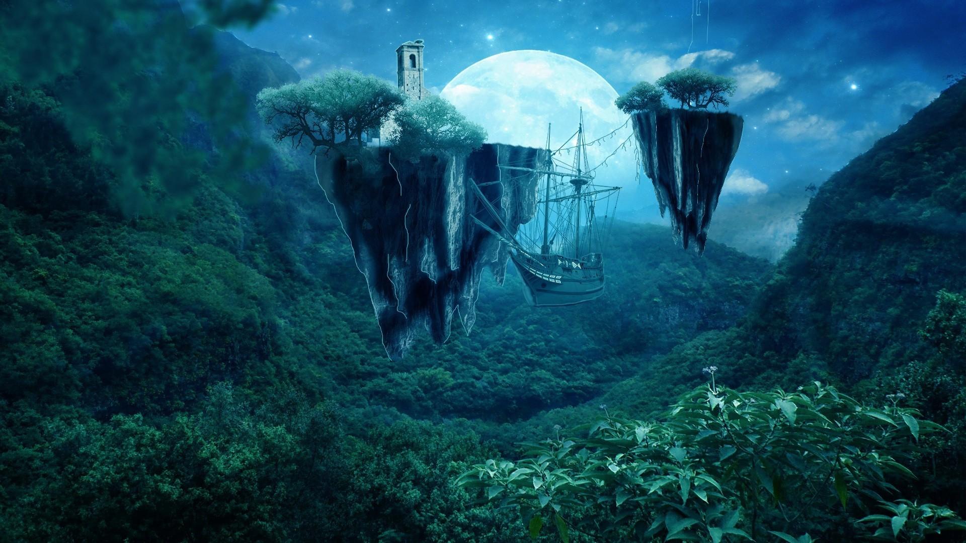 Res: 1920x1080, Fairytale Forest Desktop Wallpaper