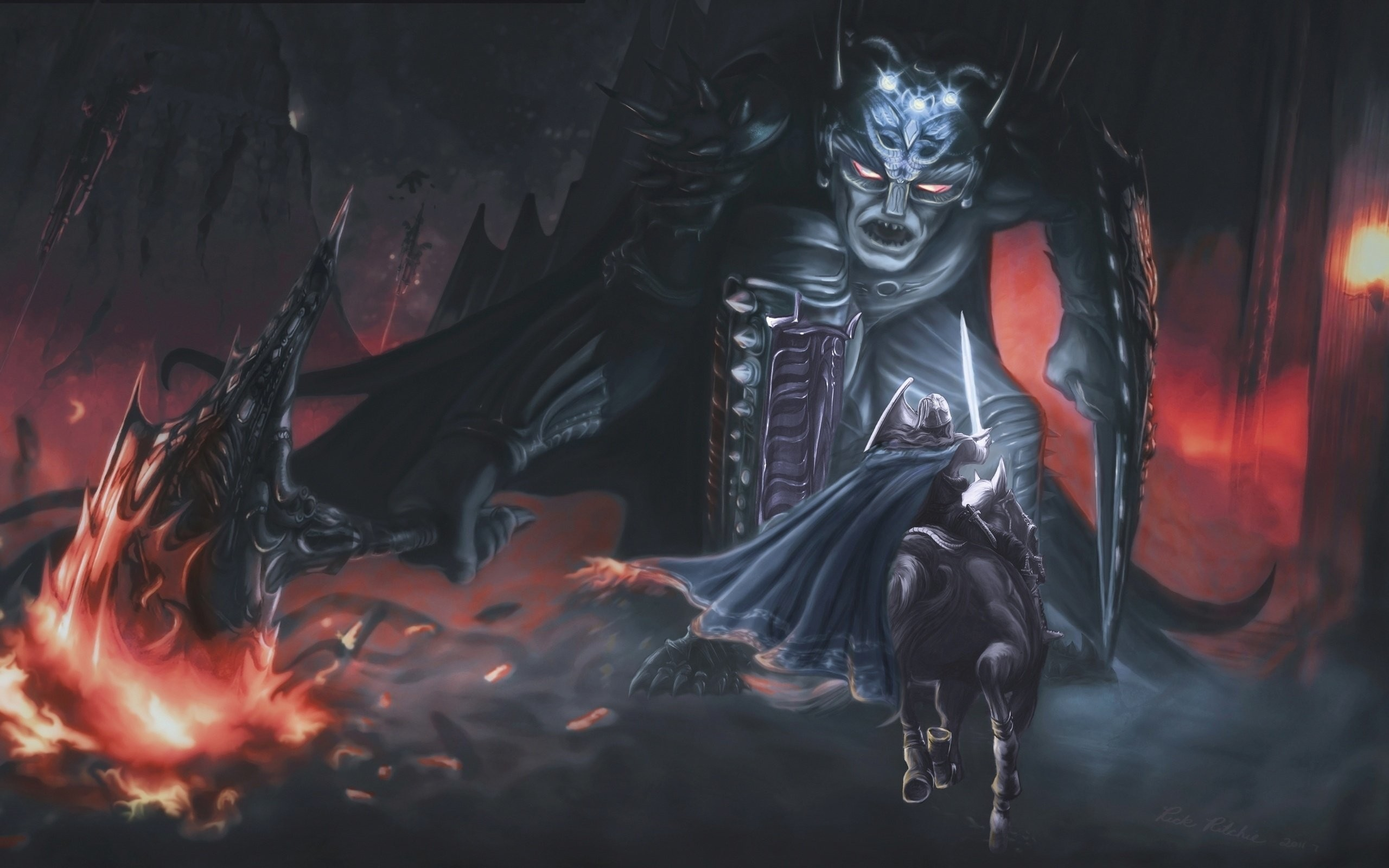 Res: 2560x1600, morgoth and fingolfin