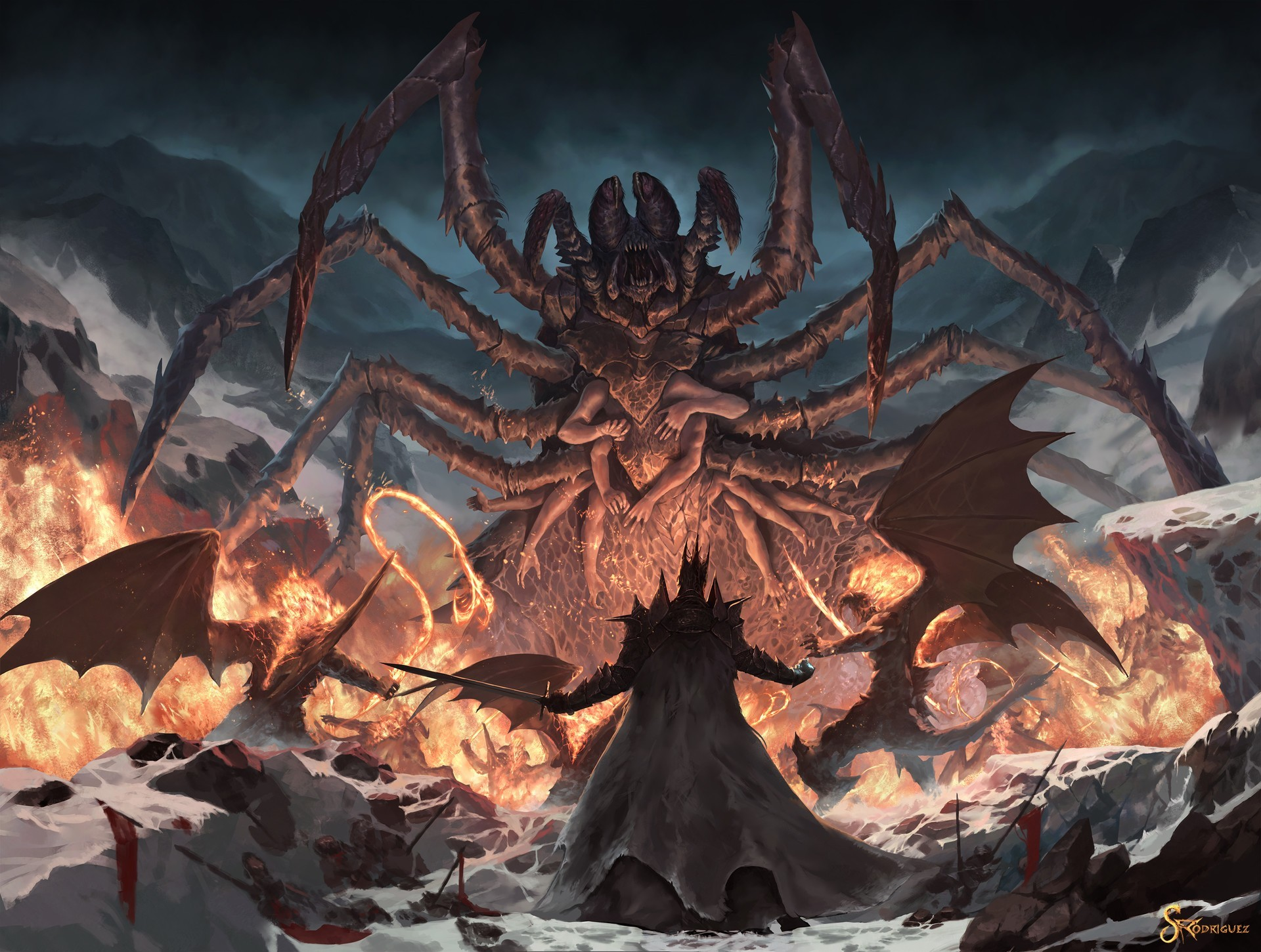 Res: 1920x1451, General  fan art demon Balrog J. R. R. Tolkien Ungoliant Melkor  Morgoth The Lord of the Rings
