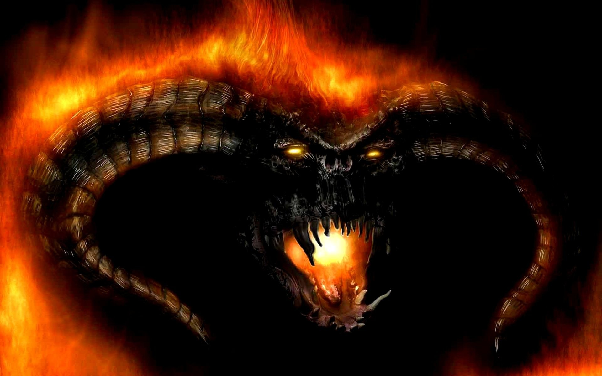 "Res: 1920x1200, ""He was taken by both shadow and flame... a Balrog of Morgoth."""