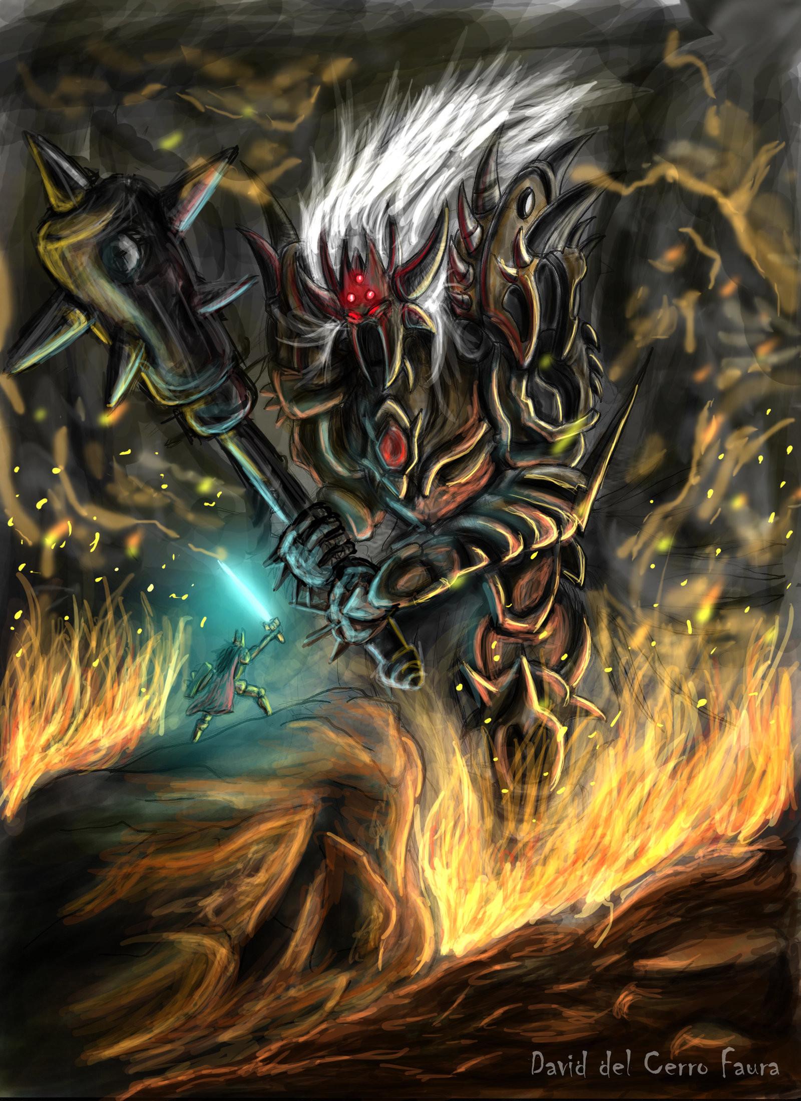 Res: 1600x2200, Morgoth VS Fingolfin by Davix92 Morgoth VS Fingolfin by Davix92