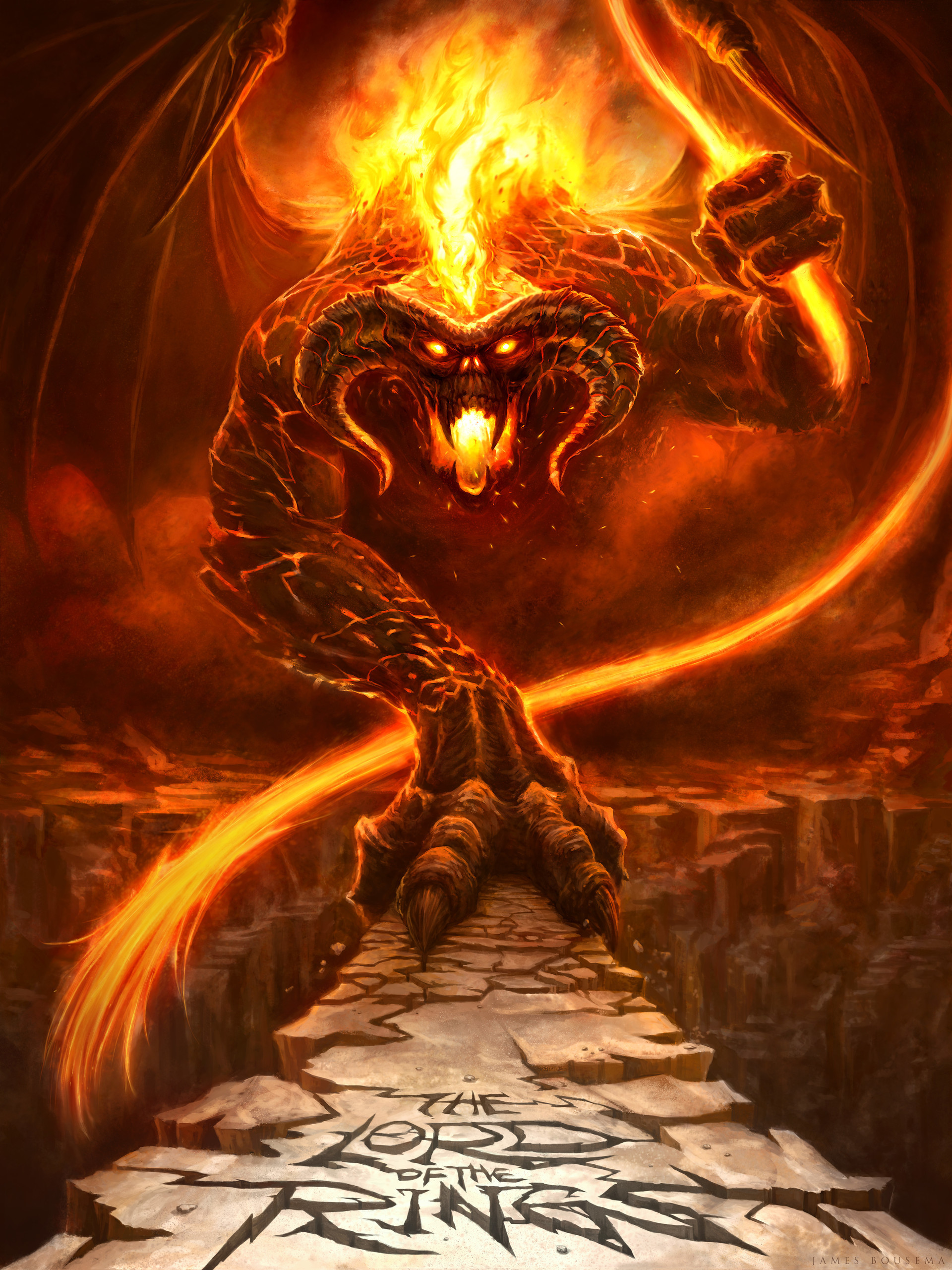 Res: 1920x2560, The Balrog of Morgoth by James Bousema ...