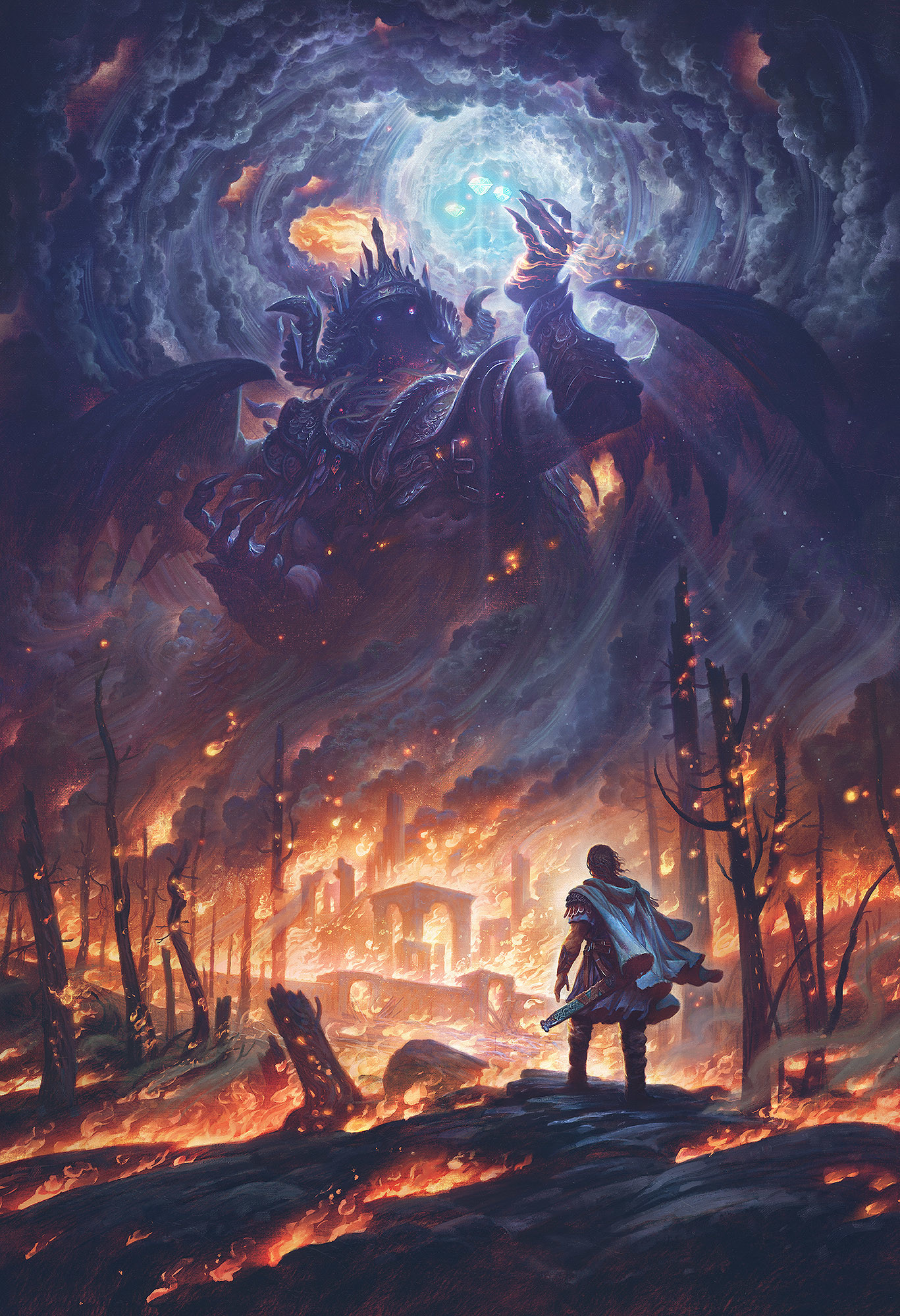 Res: 1367x2000, Morgoth and the Silmarils by Justin Gerard ...