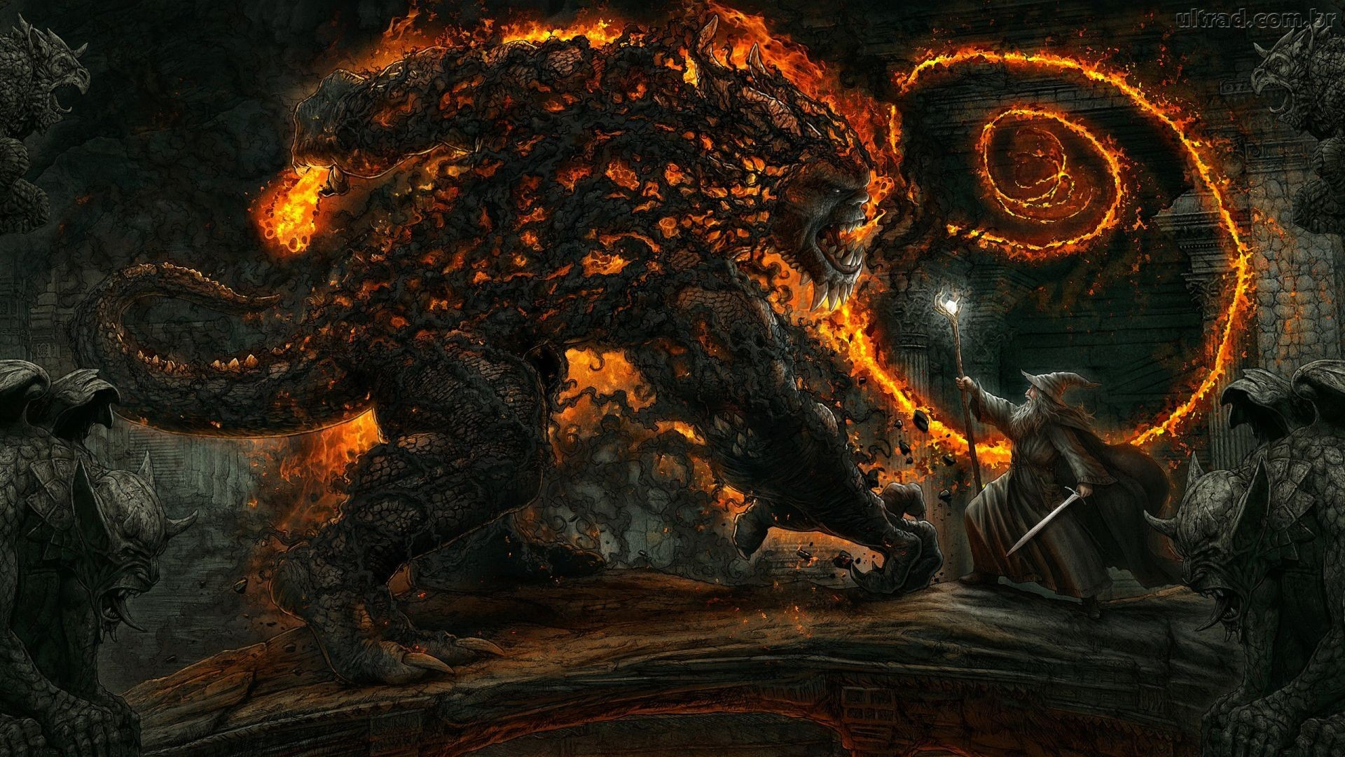 Res: 1920x1080, Ancient Demon | The Balrogs of Morgoth | Pinterest | Ancient demons and  Morgoth