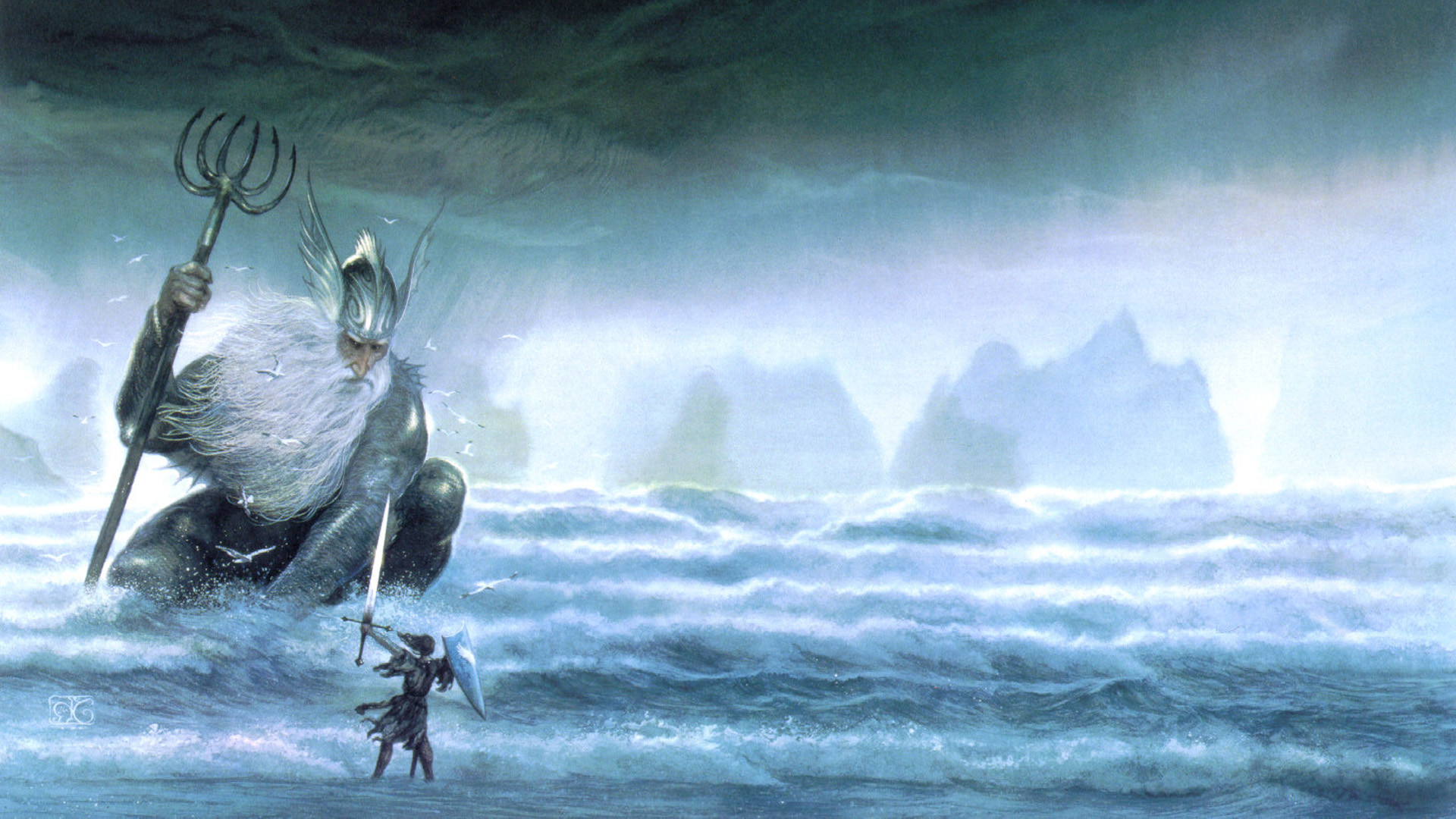 Res: 1920x1080, J. R. R. Tolkien, The Silmarillion, Fantasy Art, John Howe