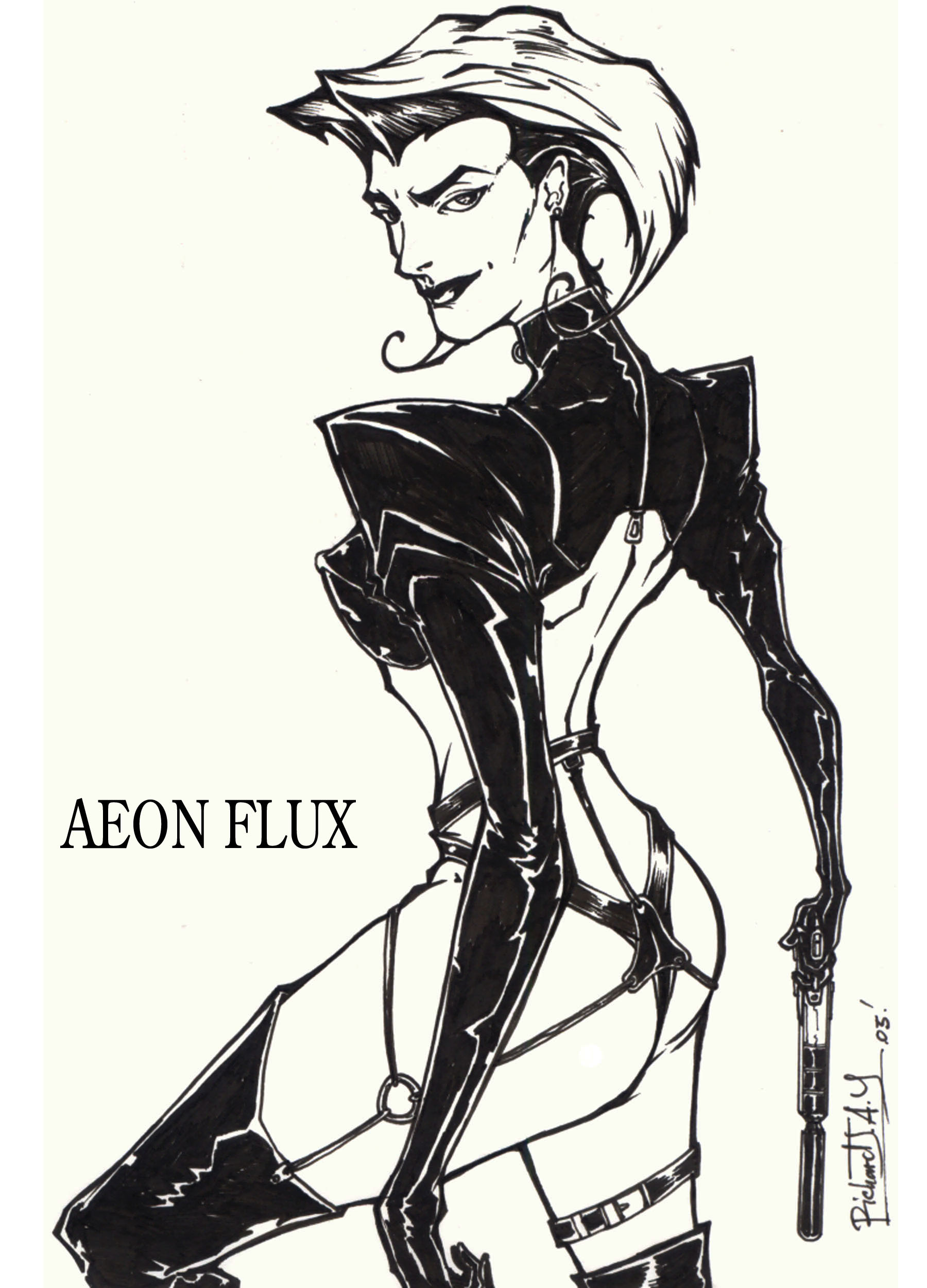 Res: 1800x2500, ... AEON FLUX by the-tracer