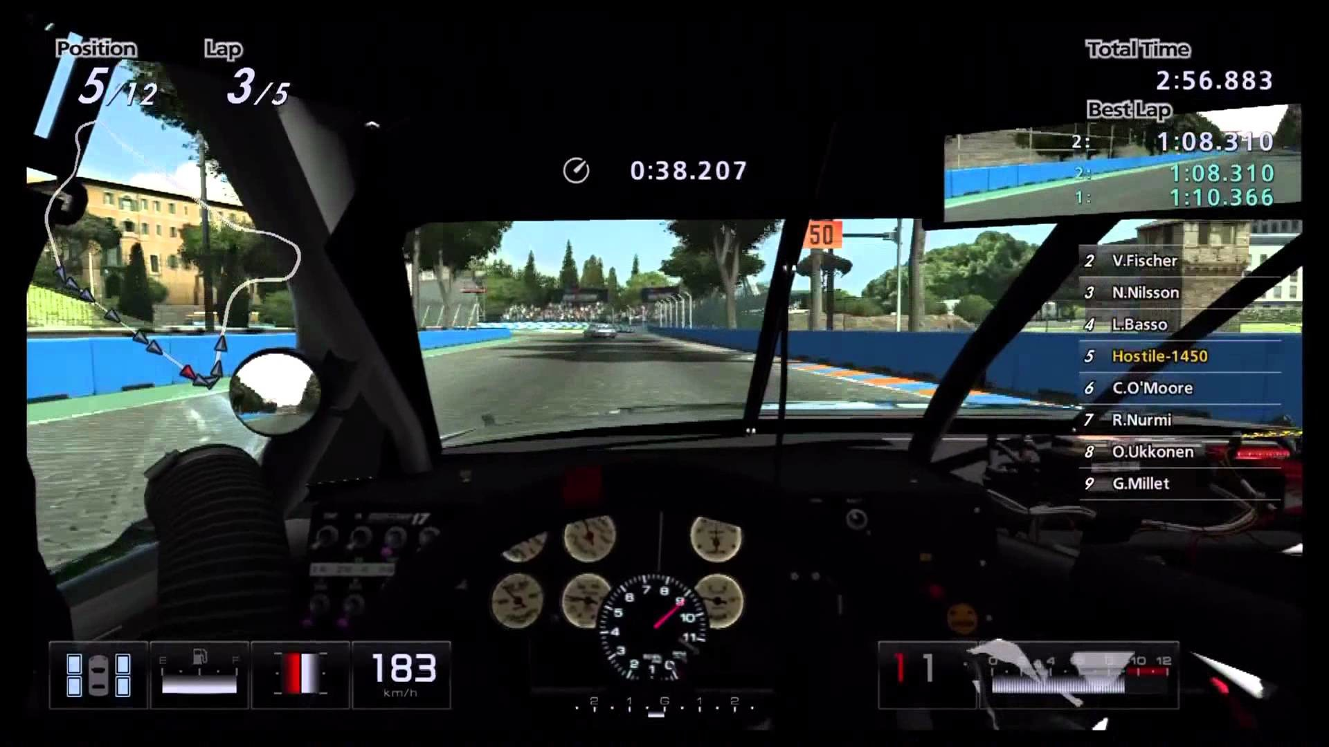 Res: 1920x1080, Gran Turismo 5 NASCAR Challange #3 Rome Reverse Carl Edwards #99 Fusion