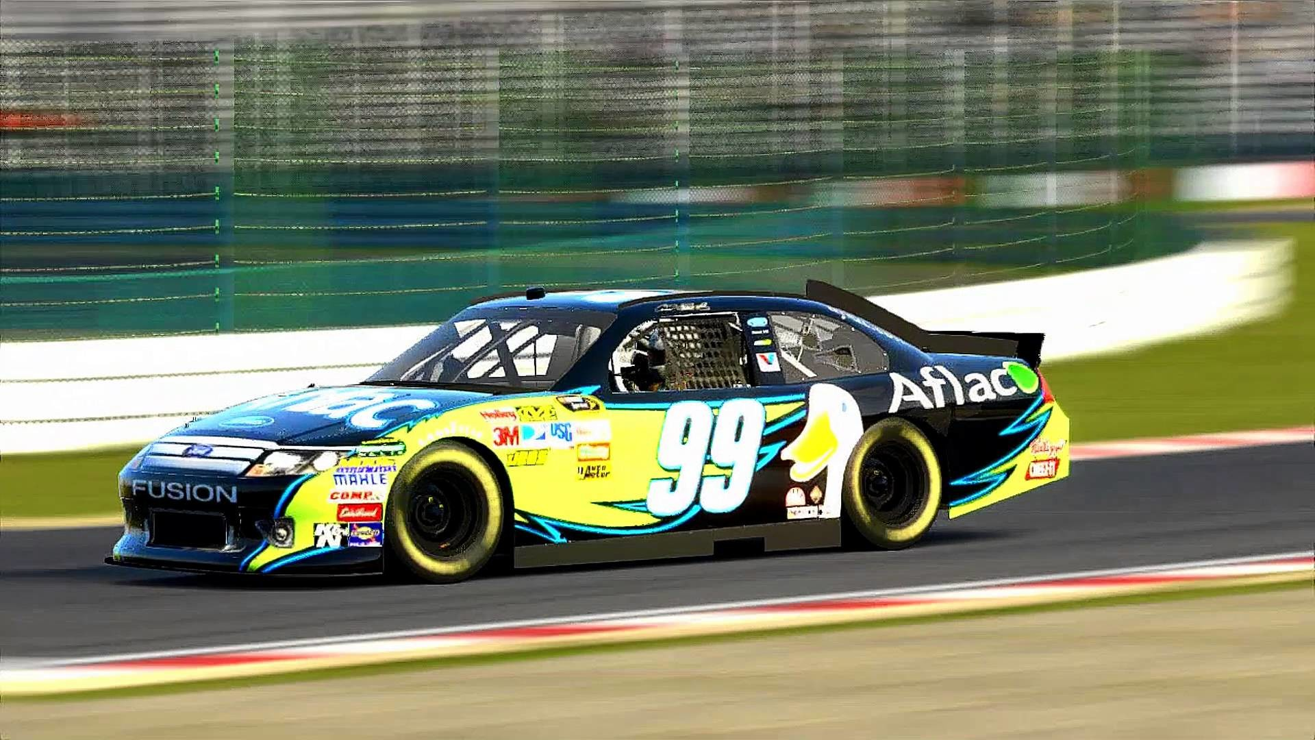 Res: 1920x1080, '13 Aflac Ford Fusion (Carl Edwards) - Suzuka Circuit: 2014 (feat.  VicReign93)