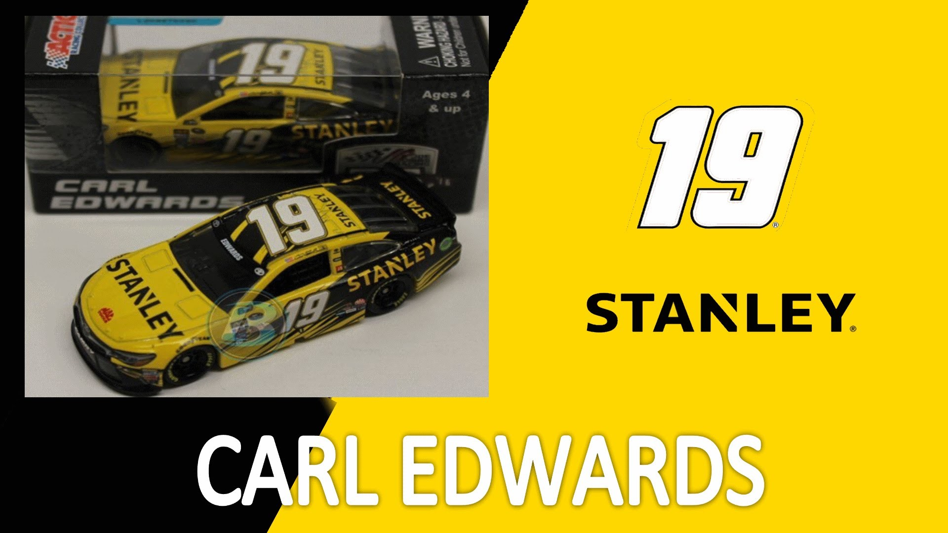 Res: 1920x1080, NASCAR DieCast Review Carl Edwards STANLEY Tools 2016 1:64