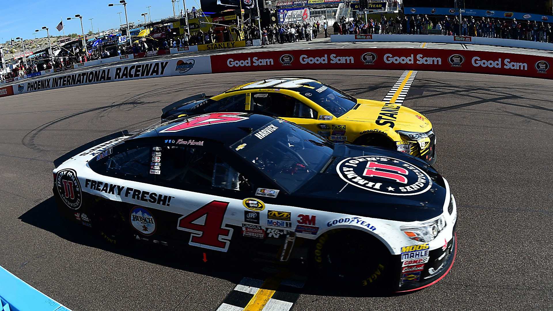 Res: 1920x1080, Kevin Harvick, Carl Edwards produce finish for the ages at Phoenix | NASCAR  | Sporting News