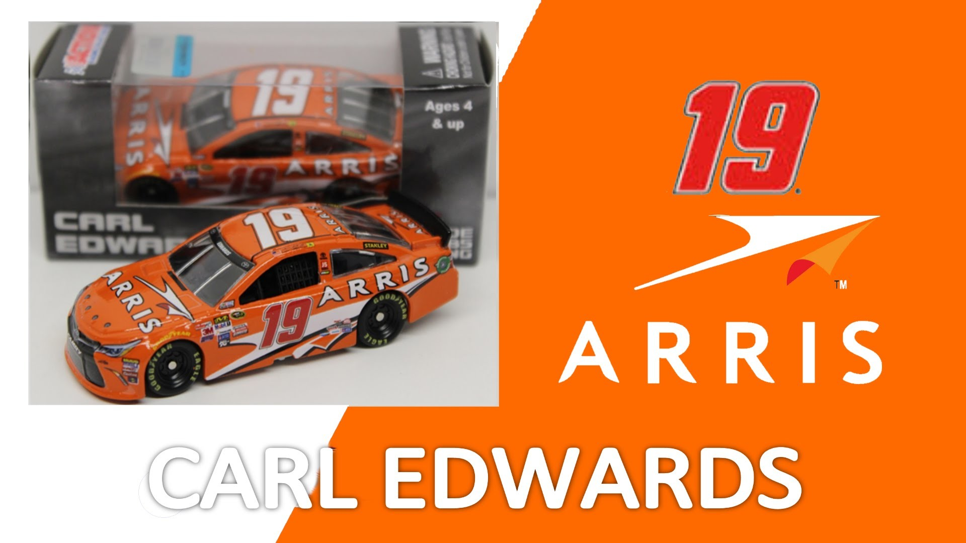 Res: 1920x1080, NASCAR DieCast Review Carl Edwards ARRIS 2015 1:64