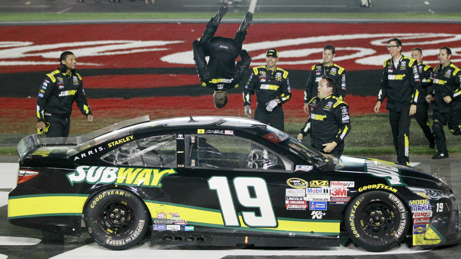 Res: 1920x1080, Winners & Losers: Carl Edwards doing backflips again after Coca-Cola 600 win