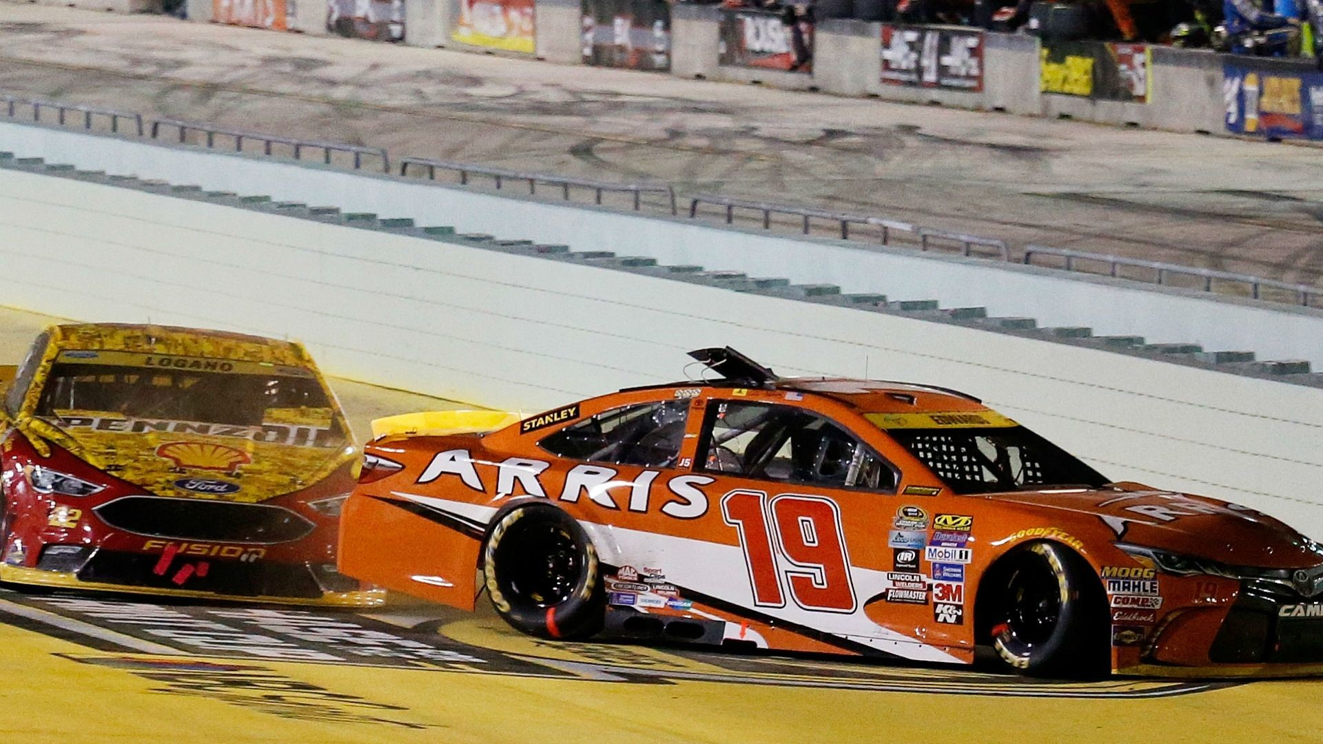 Res: 1920x1080, NASCAR championship: Carl Edwards, Joey Logano explain their sides of fiery  wreck