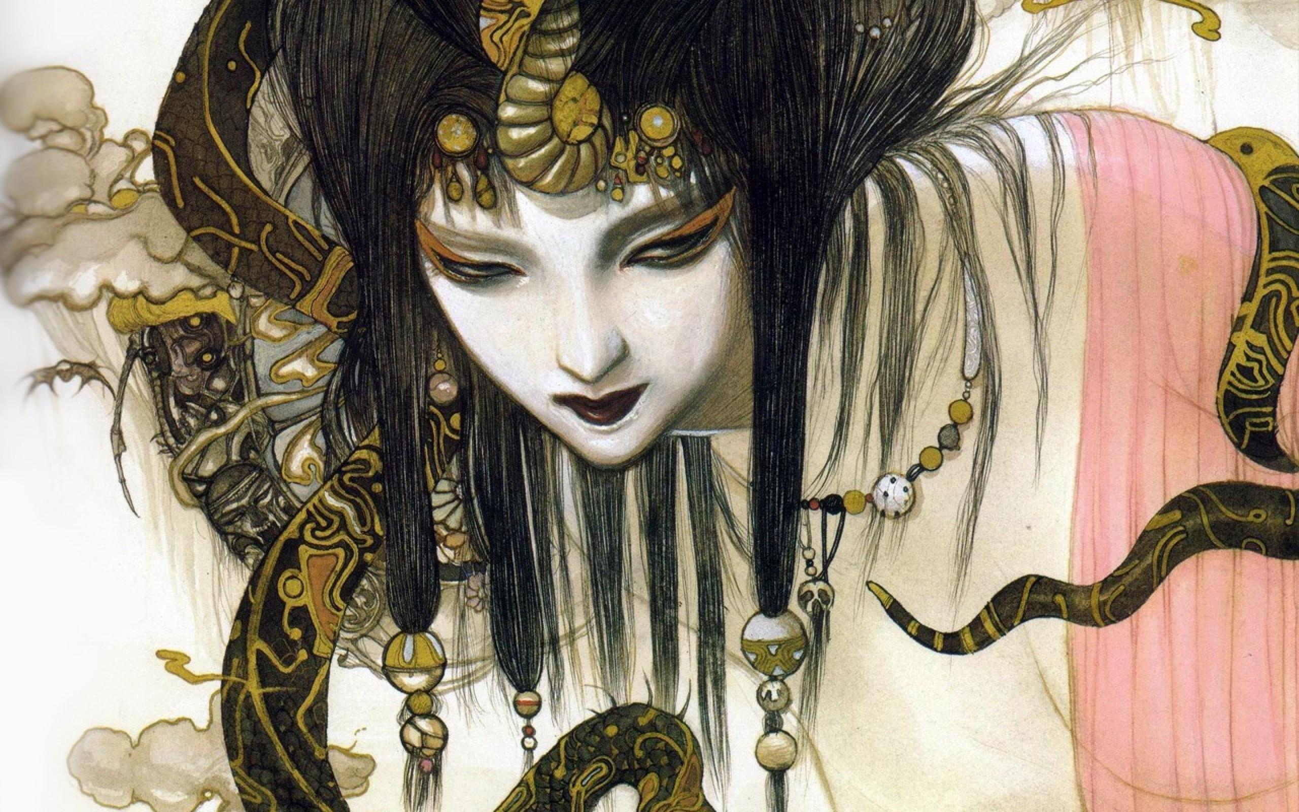Res: 2560x1600, Art & Creative Wallpapers. Download the following Yoshitaka Amano ...