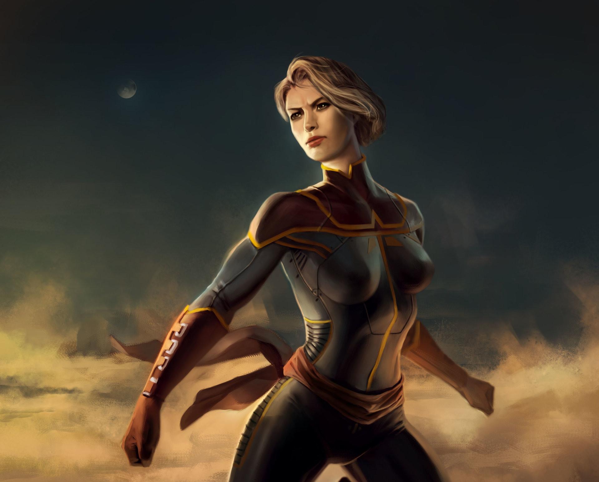 Res: 1920x1546, Captain Marvel Art
