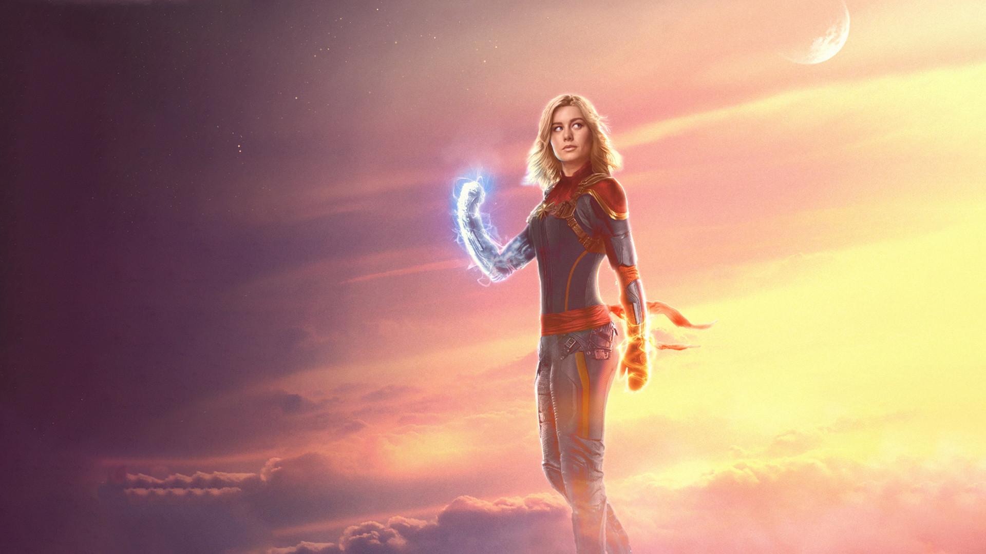 Res: 1920x1080, Brie Larson as Captain Marvel