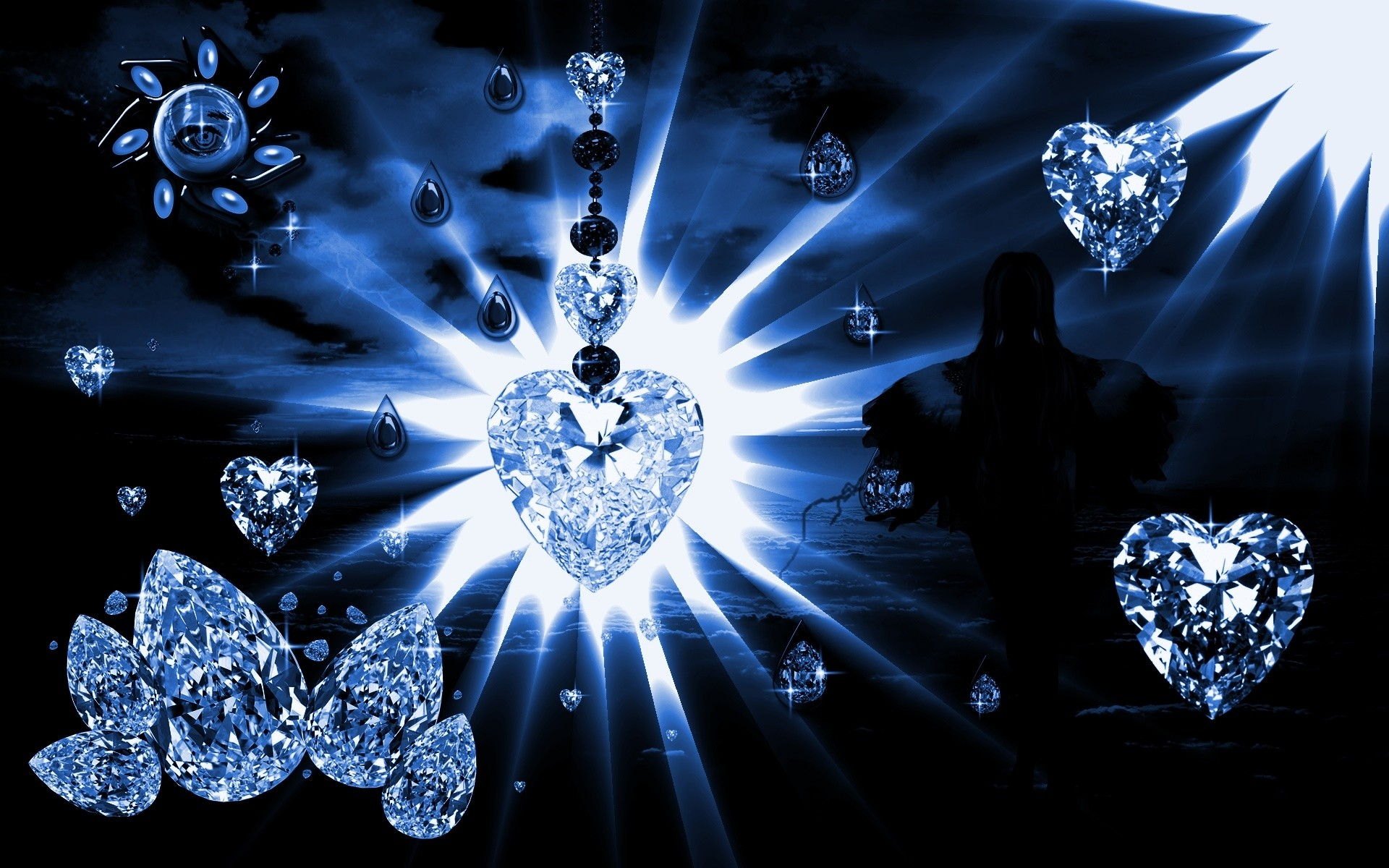 Res: 1920x1200, Pink Blue Diamonds Background High Definition Wallpaper.